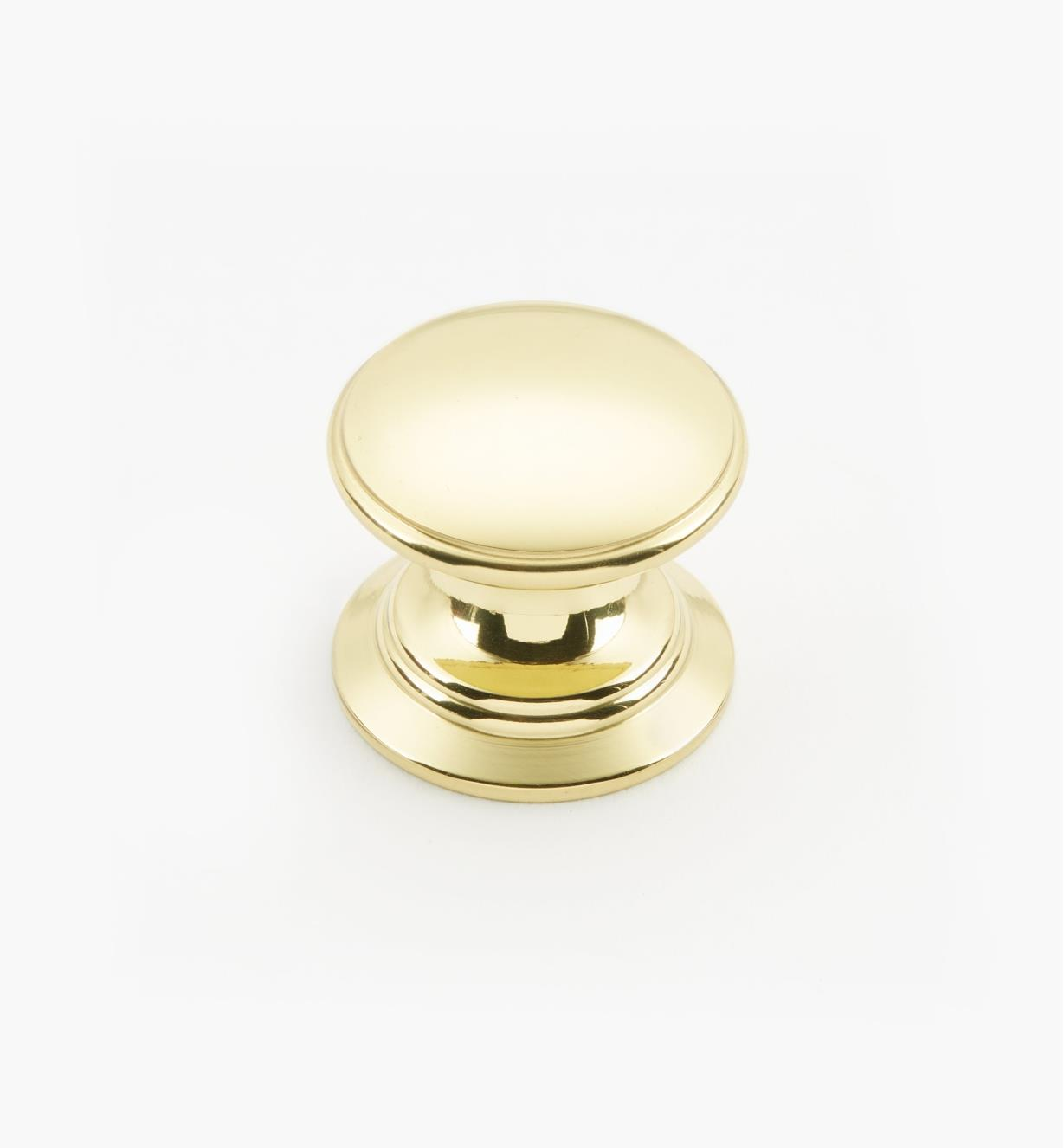 "02W1408 - Polished Brass Suite - 1"" x 7/8"" Knob"