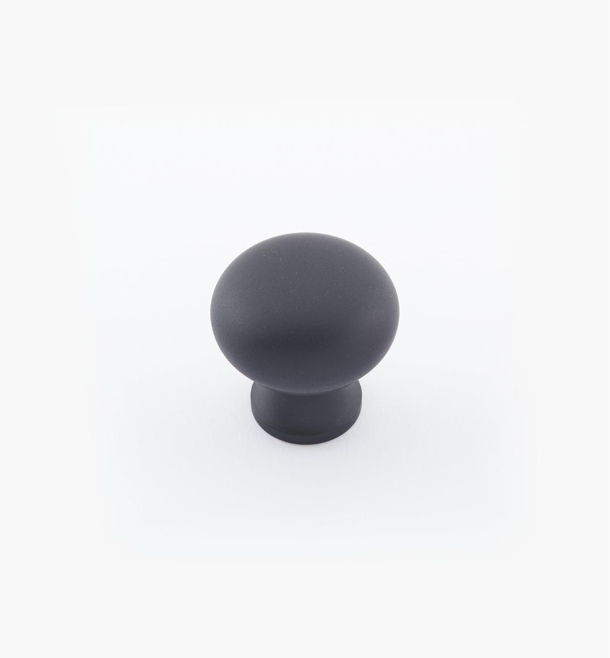"02W1422 - 3/4"" × 3/4"" Round Brass Knob, Oil-Rubbed Bronze"