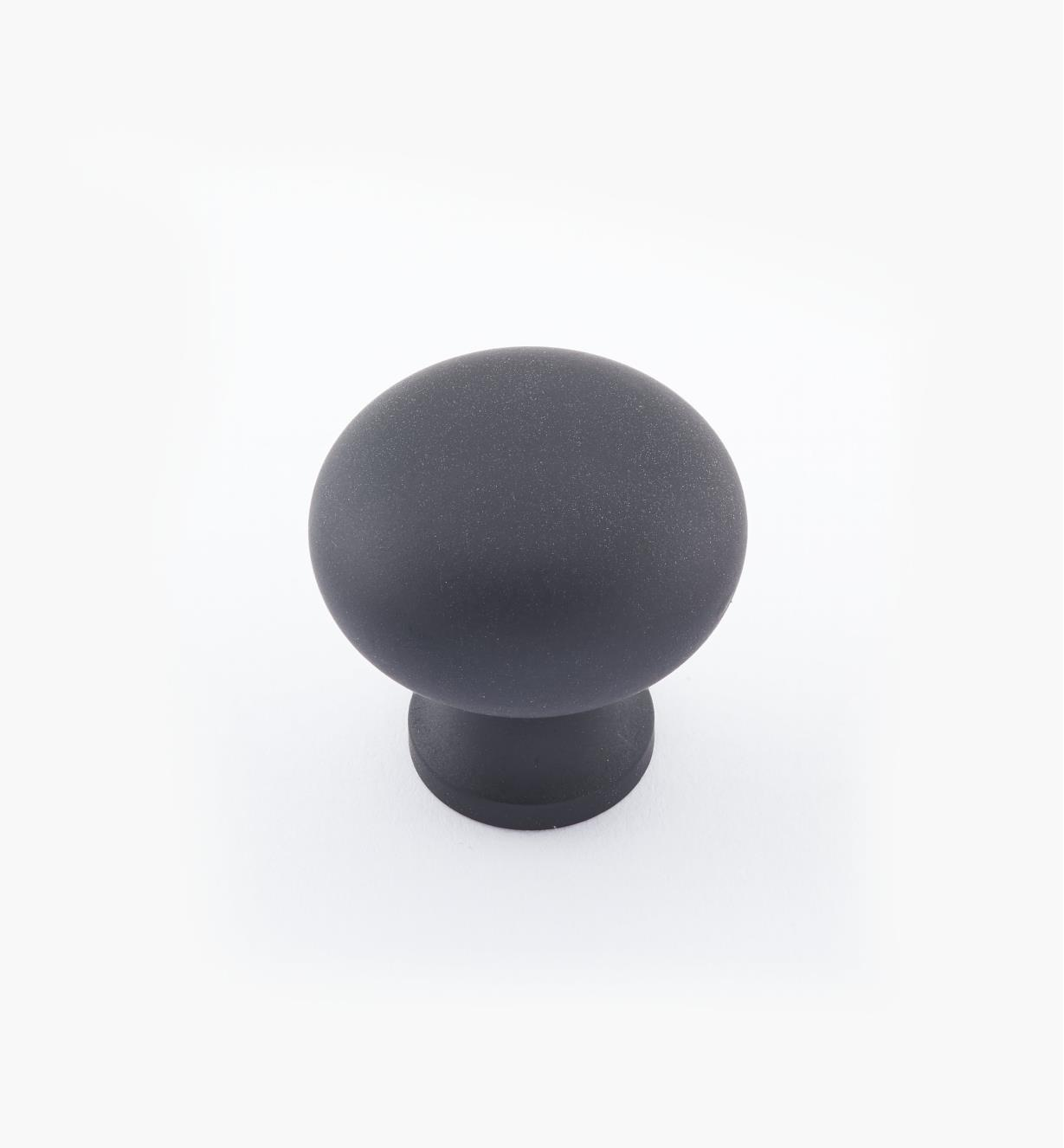 "02W1423 - 1"" × 1"" Round Brass Knob, Oil-Rubbed Bronze"