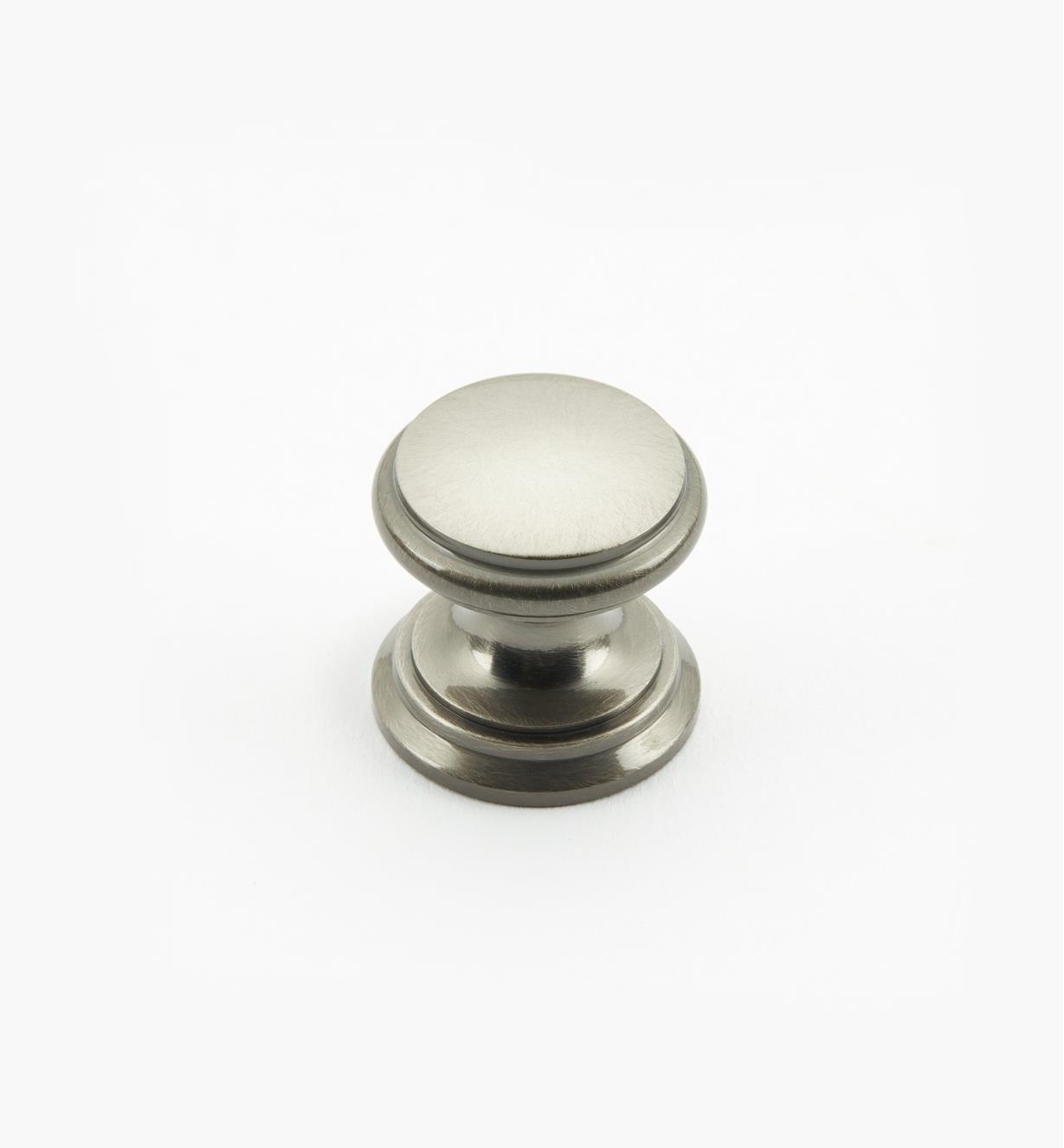"02W1437 - Antique Nickel Suite - 3/4"" x 3/4"" Round Brass Knob"