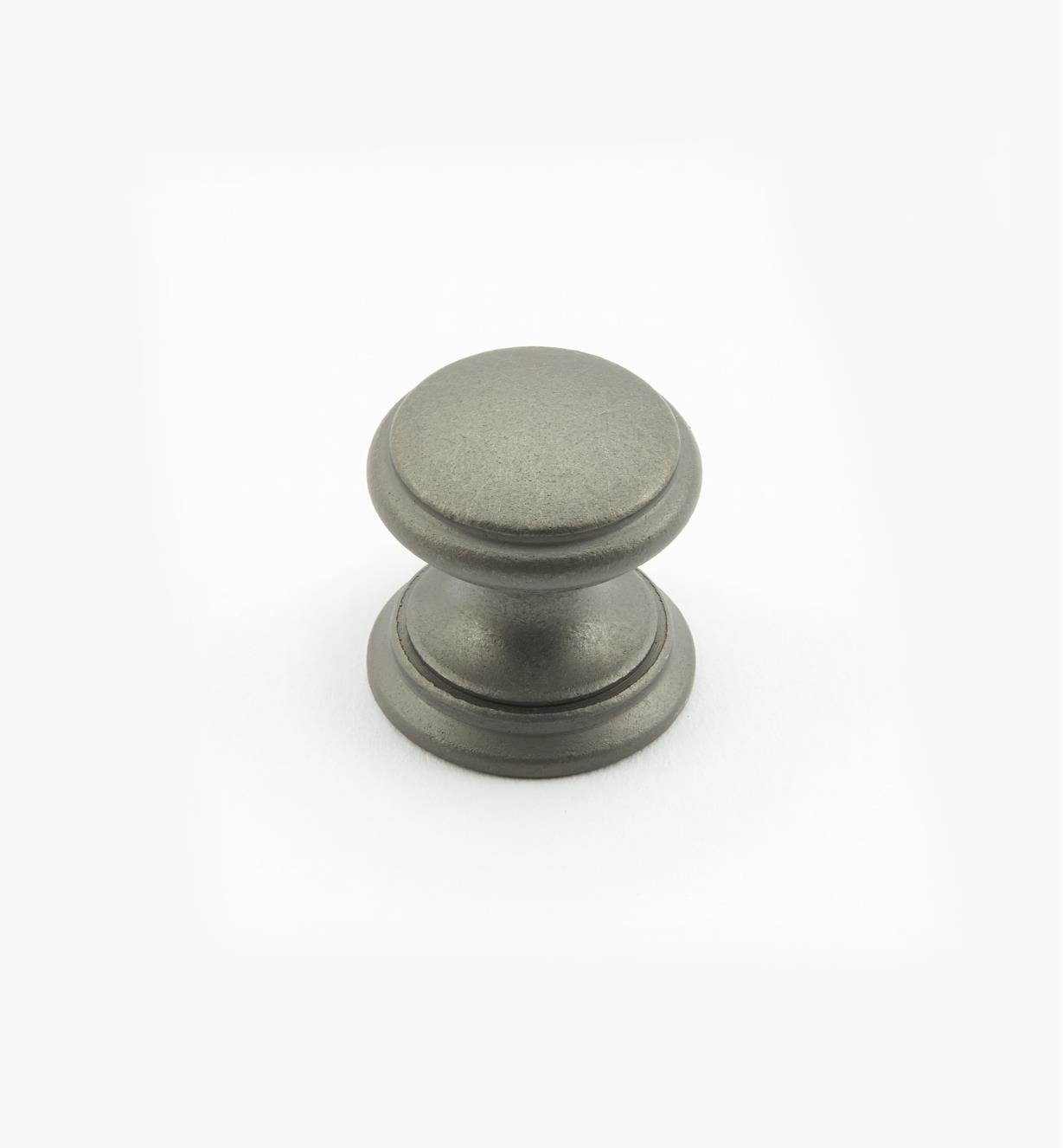 02W1457 - Bouton rond de 3/4 po x 3/4 po, série Étain, laiton