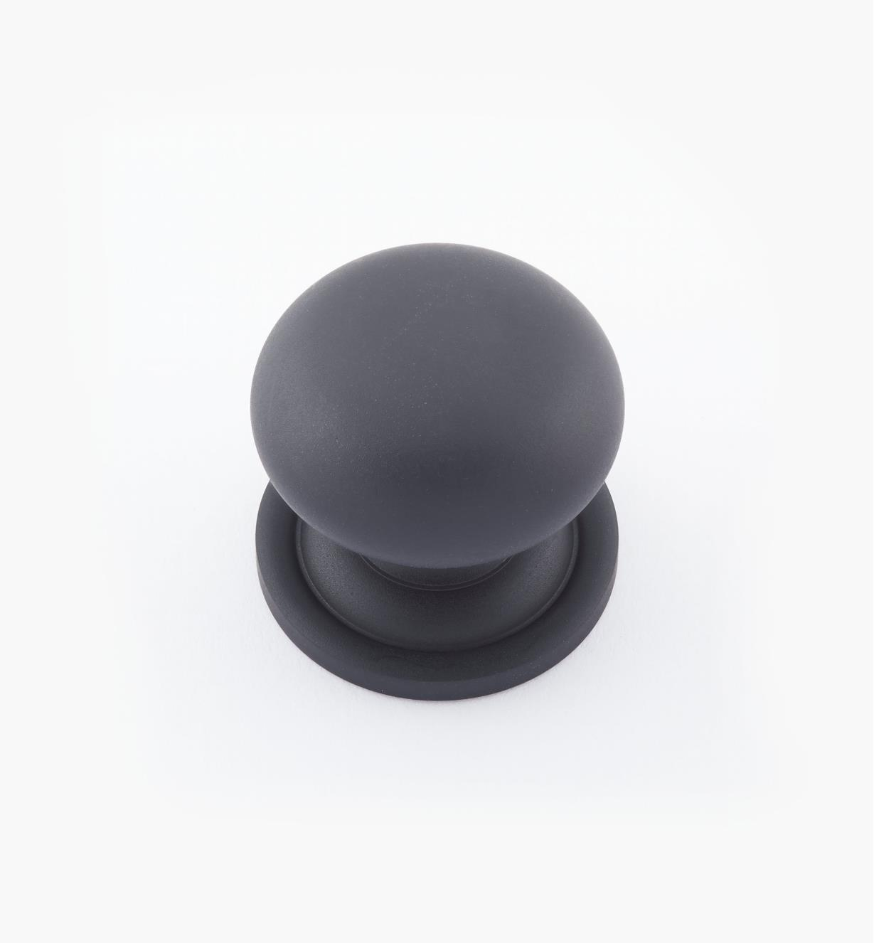 "02W1531- 1"" × 7/8"" Round Brass Knob, Oil-Rubbed Bronze"