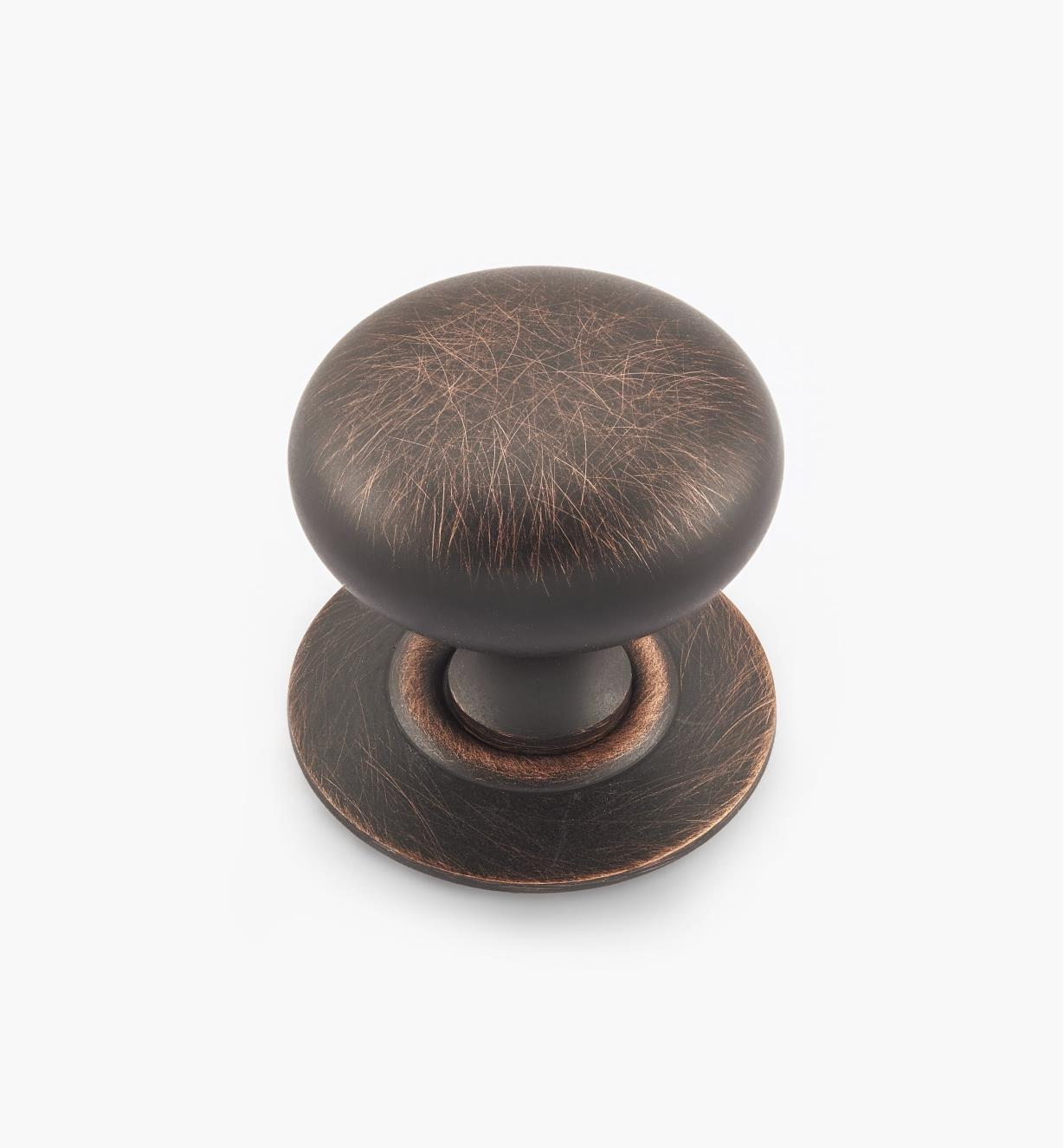 "02W1559 - Weathered Bronze Suite - 1 1/4"" x 1 1/4"" Knob/Escutcheon"