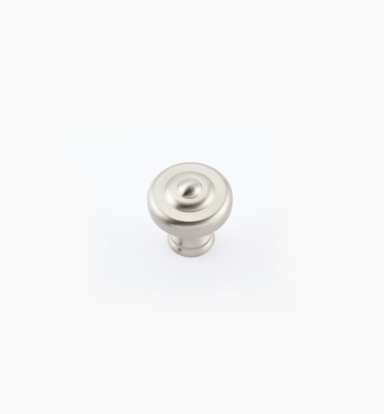 "02W1822 - 1 1/4"" x 1 3/8"" Dull Nickel Ring Knob"