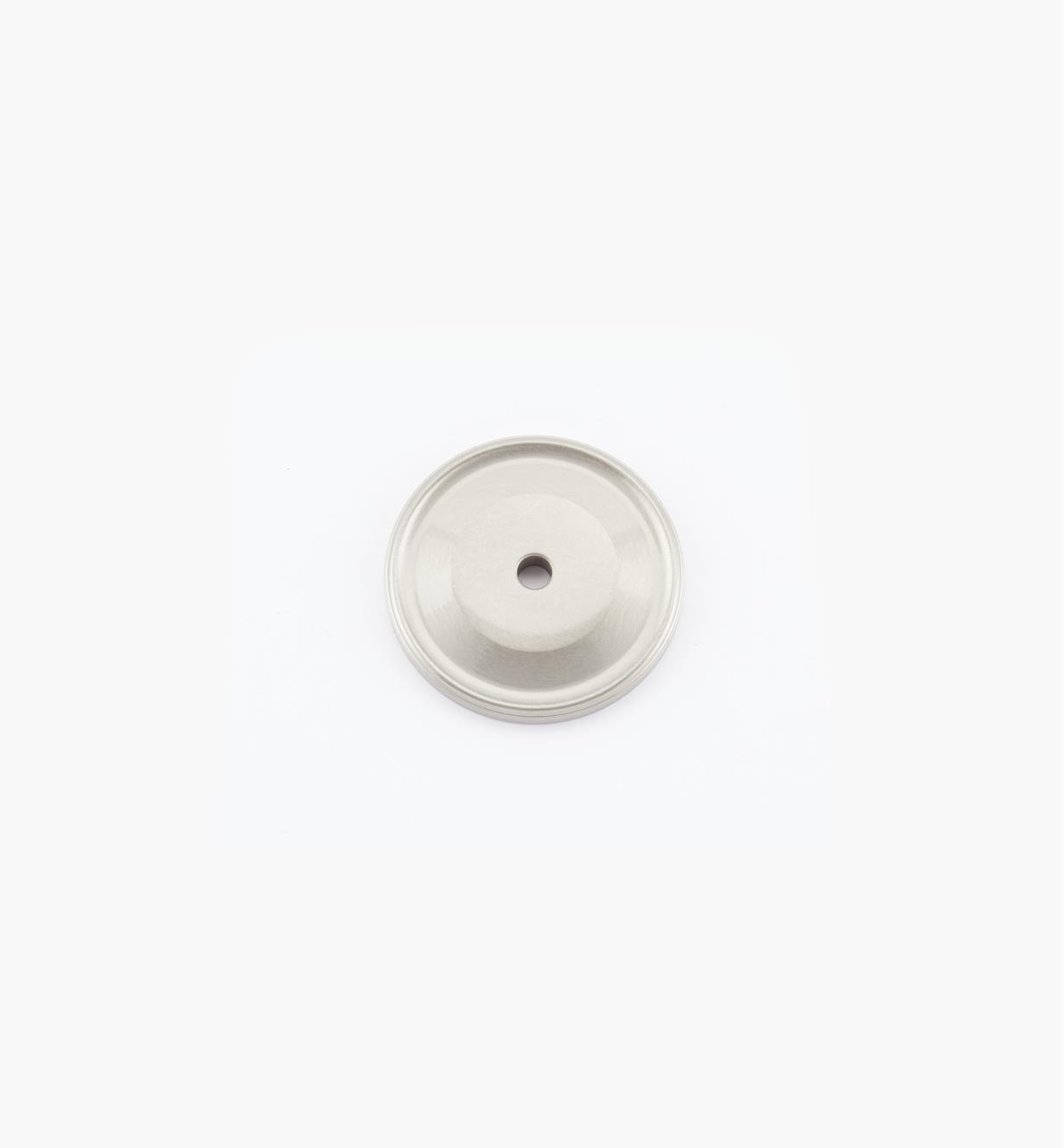 "02W1824 - 1 1/2"" Dull Nickel Knob Backplate"