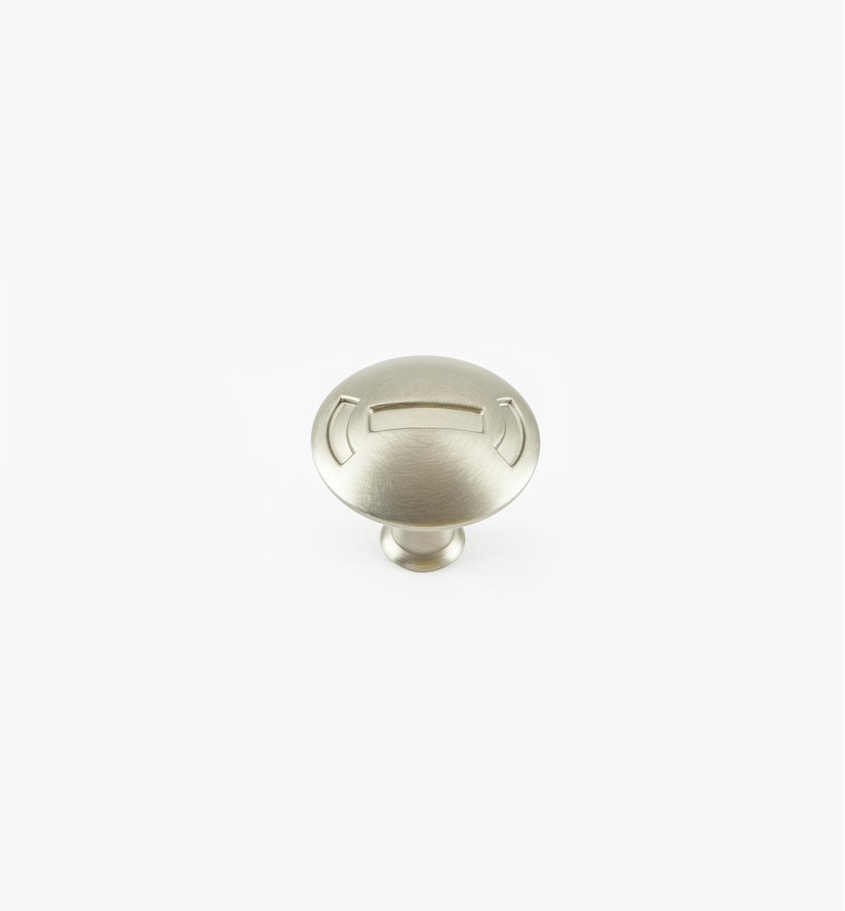 "02W1901 - 1 1/4"" x 1 1/8"" Satin Nickel Knob"