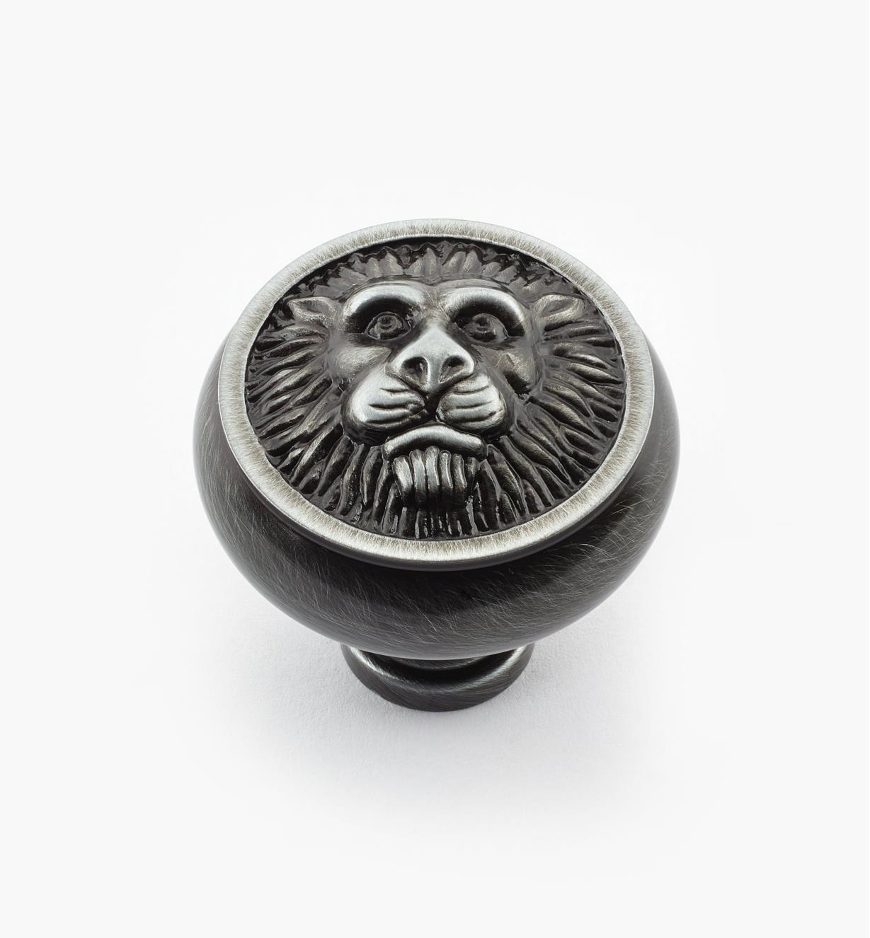 "02W2102 - 1 1/2"" x 1 1/2"" Antique Pewter Knob"