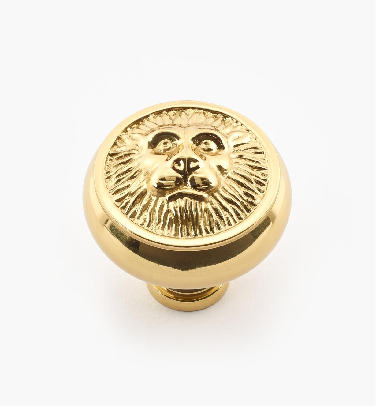 "02W2182 - 1 1/2"" x 1 1/2"" Polished Brass Knob"