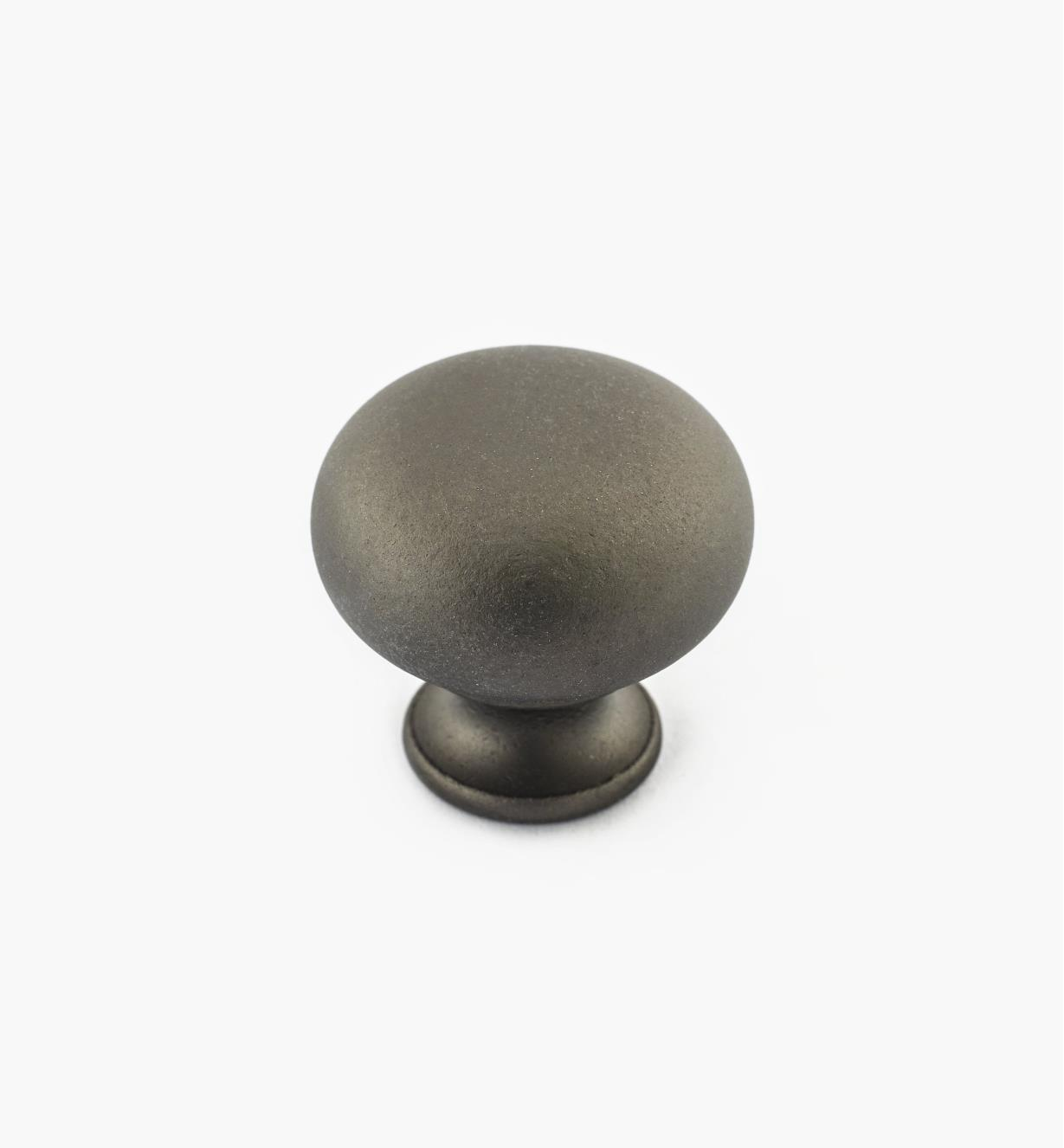 "02W2601 - Pewter Suite - 1 3/16"" x 1 1/8"" Cast Brass Dome Knob"