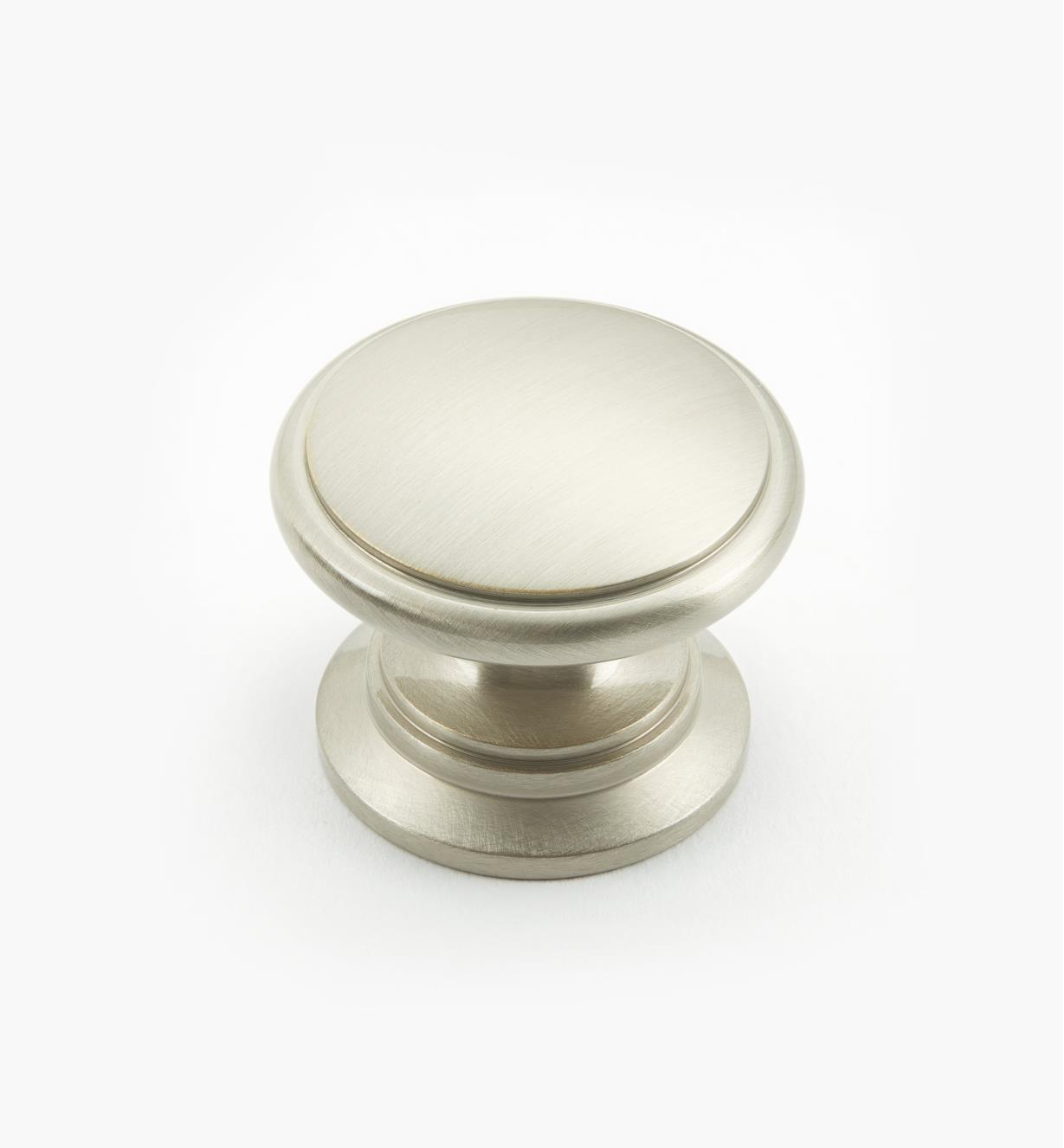 "02W2662 - Satin Nickel Suite - 1 1/4"" x 1"" Cast Brass Knob"