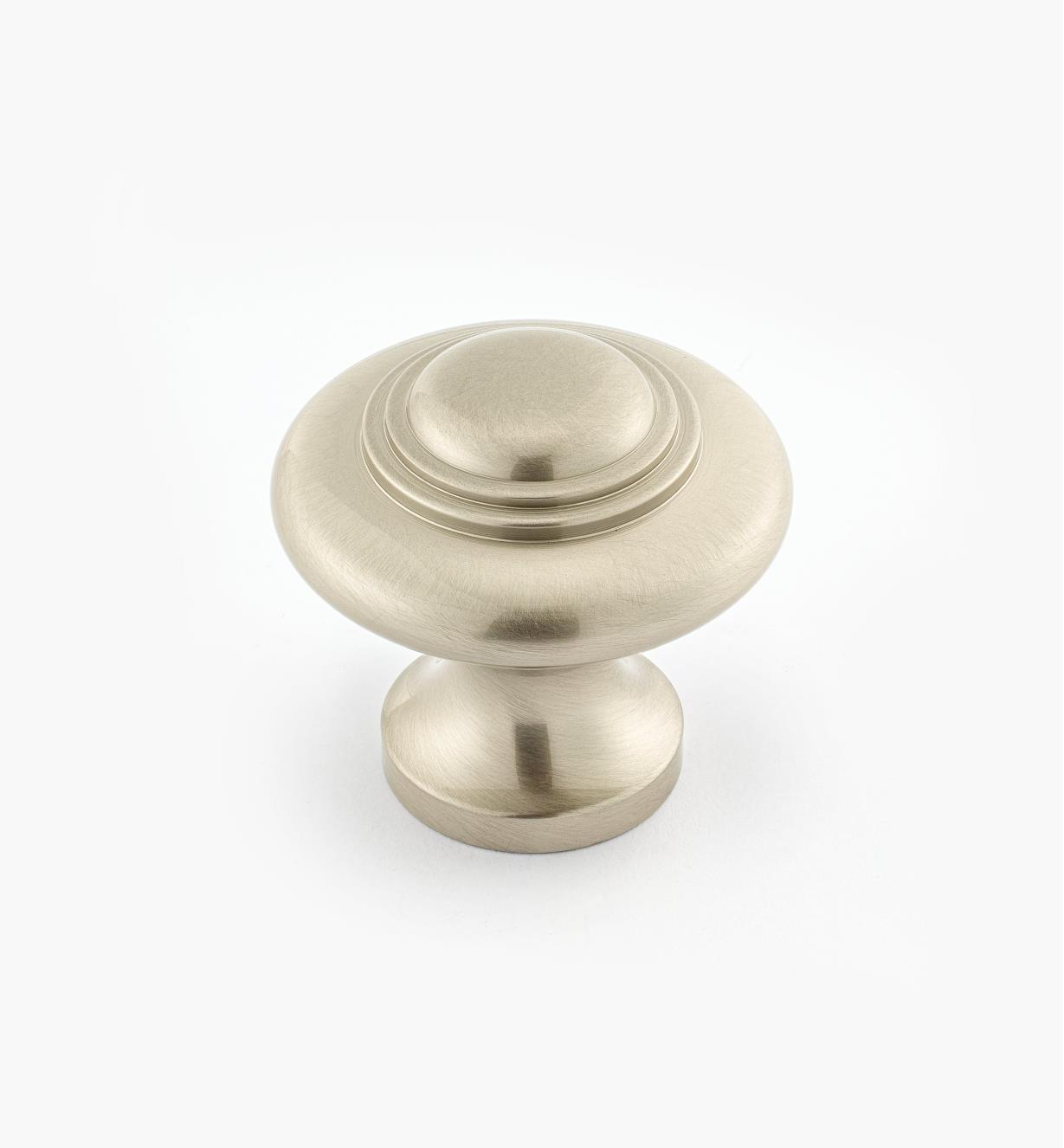 "02W2663 - Satin Nickel Suite - 1 5/16"" x 1 1/4"" Cast Brass Ring Knob"