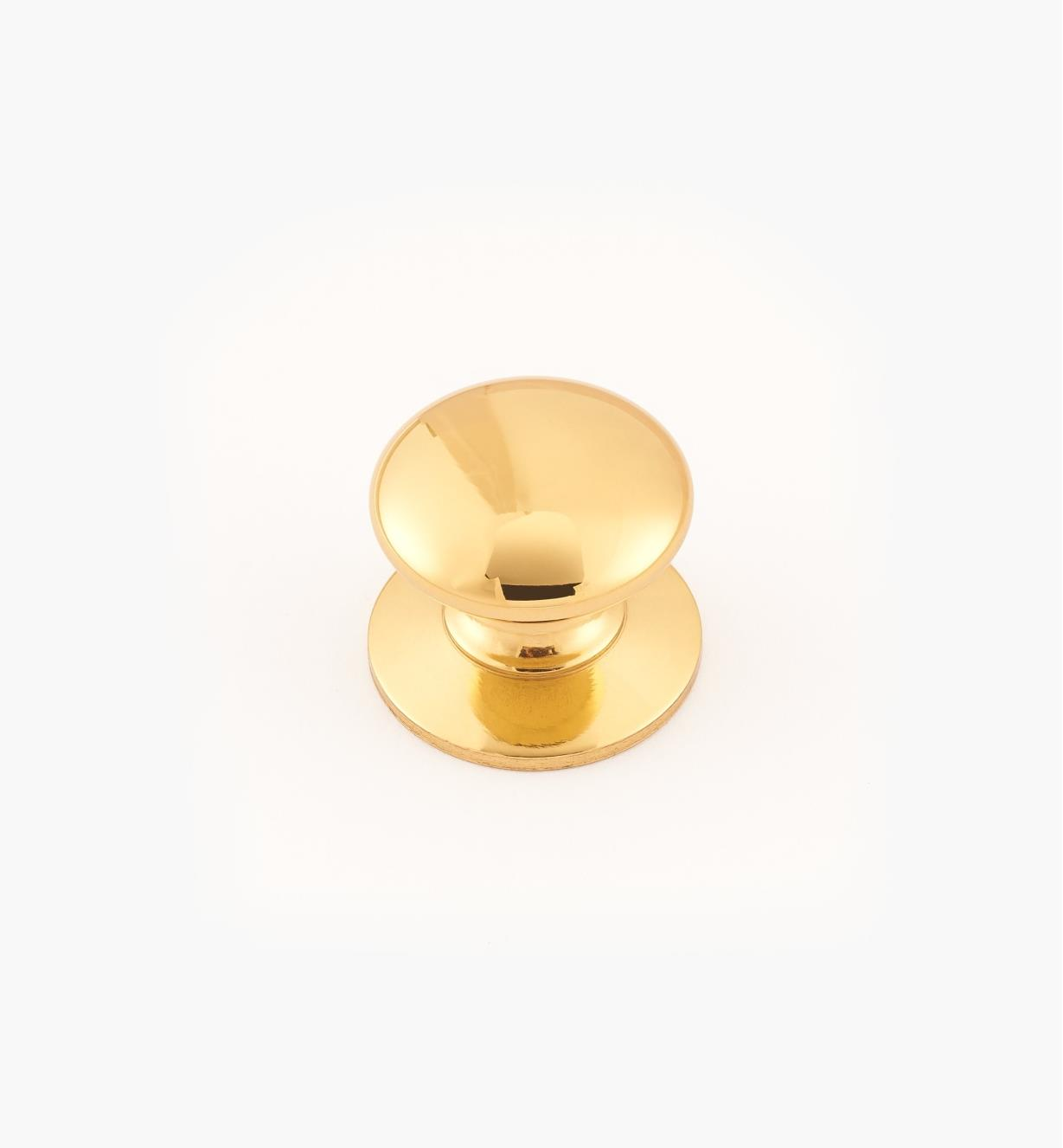 "02W2707 - Polished Brass Suite - 3/4"" x 5/8"" Round Brass Knob"