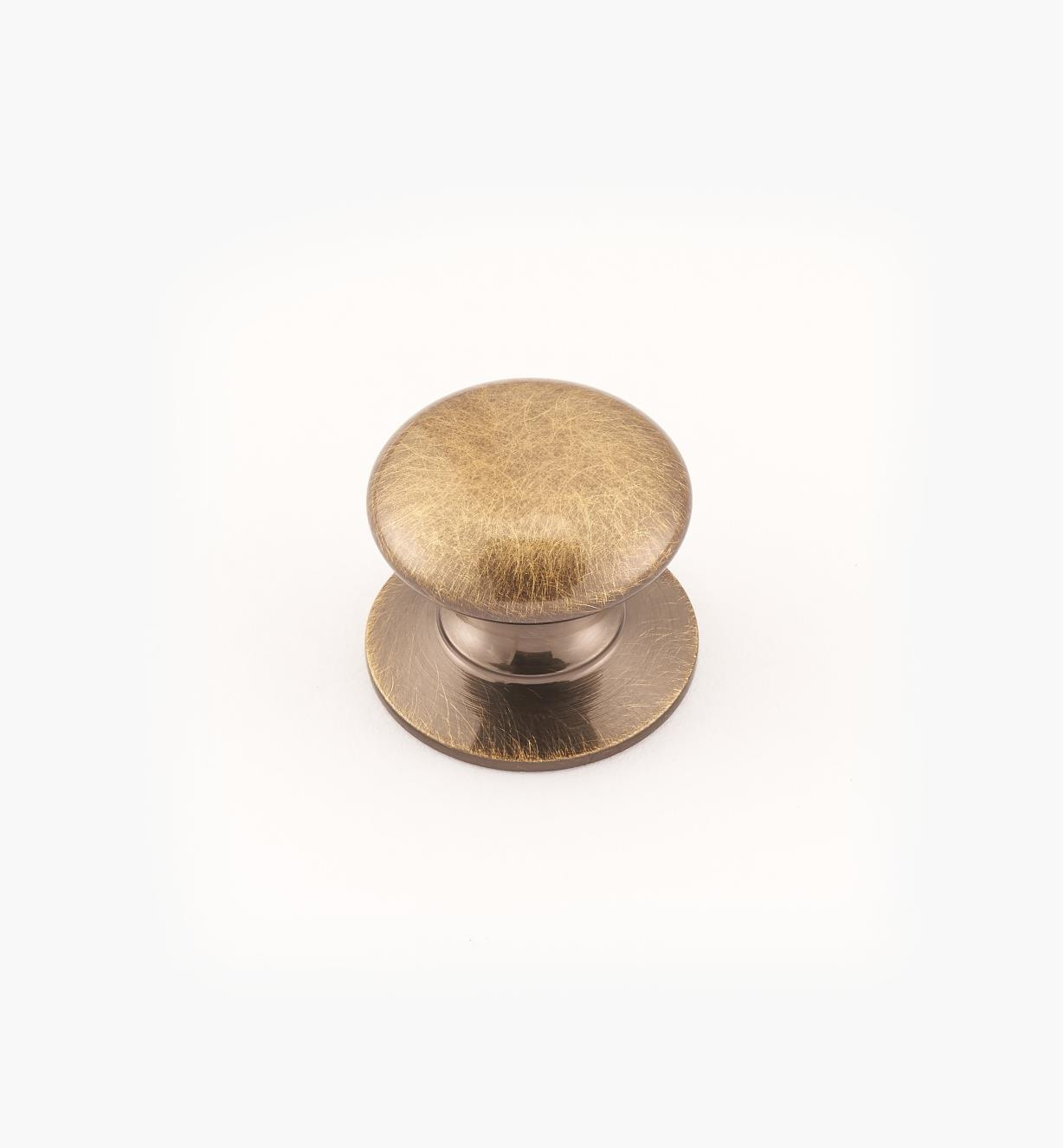 "02W2717 - Antique Brass Suite - 3/4"" x 5/8"" Round Brass Knob"