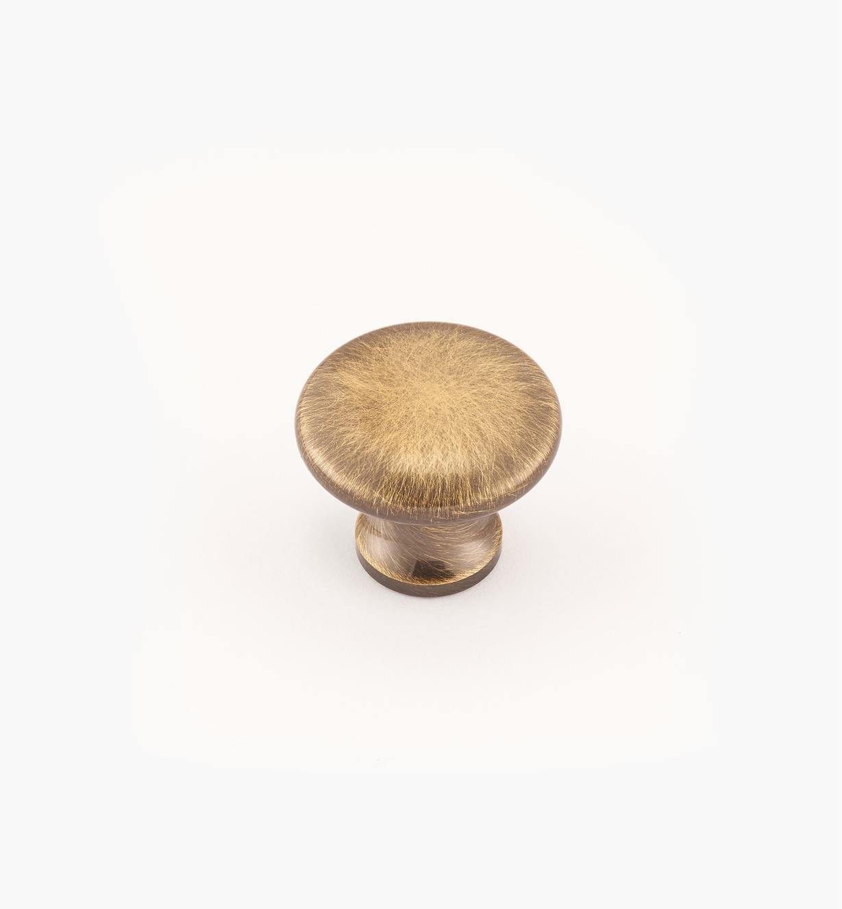 "02W2719 - Antique Brass Suite - 3/4"" x 5/8"" Round Brass Knob"