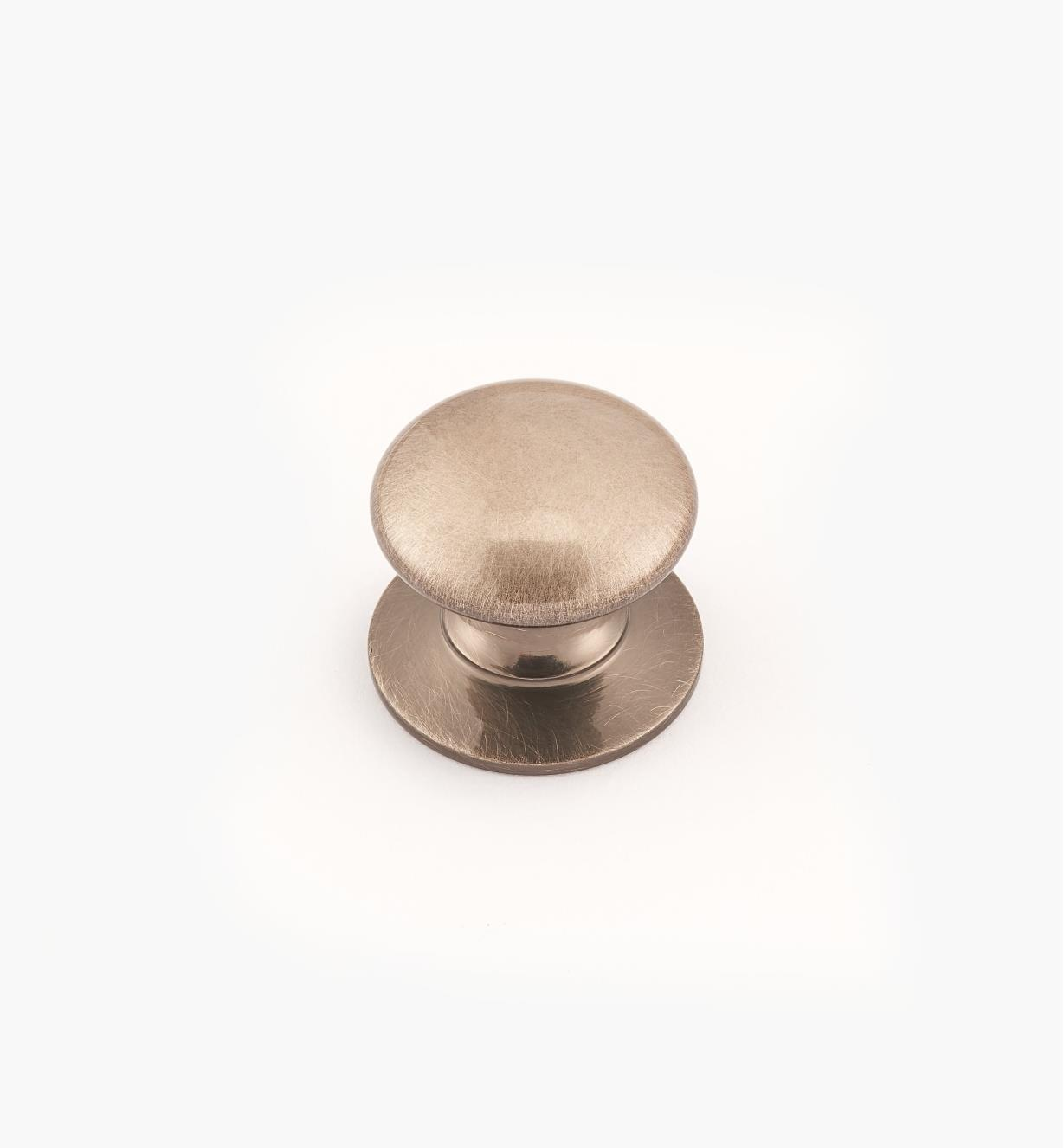 "02W2727 - Antique Nickel Suite - 3/4"" x 5/8"" Round Brass Knob"