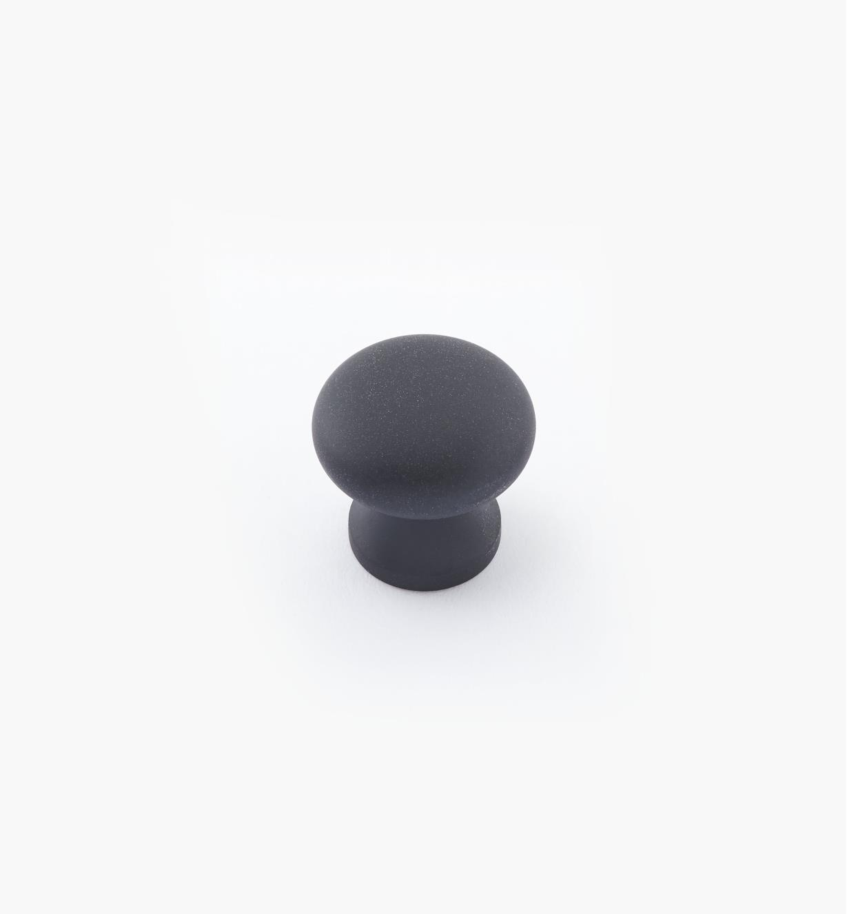 "02W2738 - 5/8"" × 5/8"" Round Brass Knob, Oil-Rubbed Bronze"