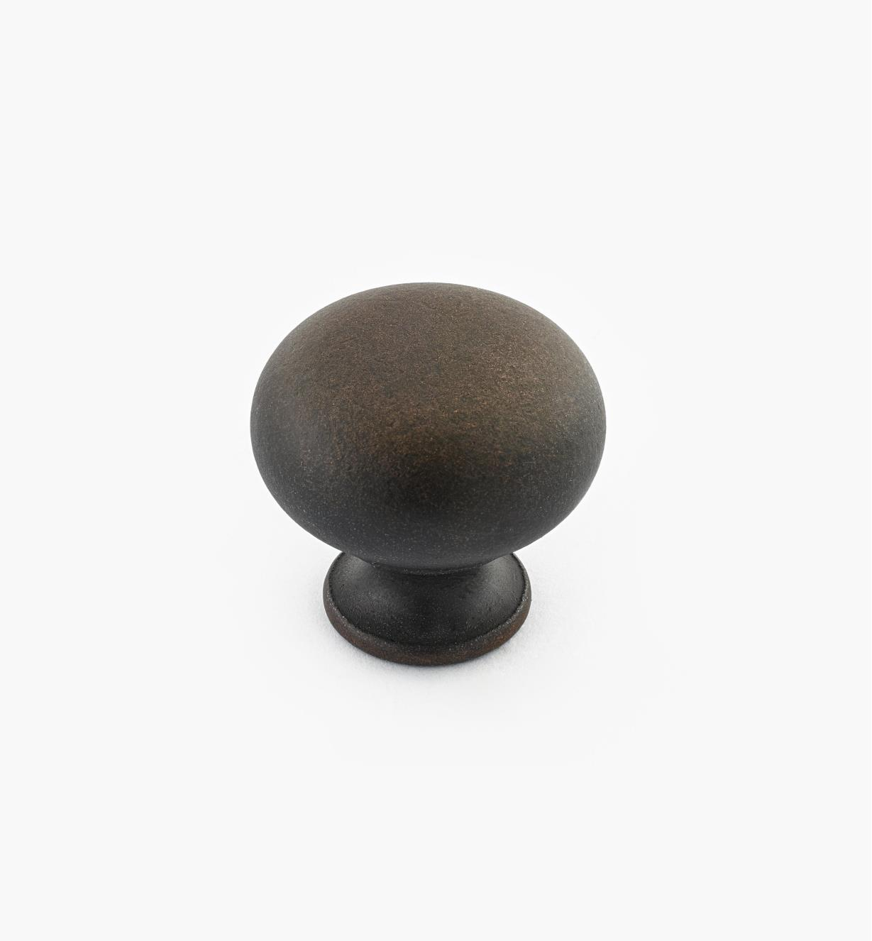 "02W3051 - Weathered Bronze Suite - 1 3/16"" x 1 1/8"" Cast Brass Dome Knob"