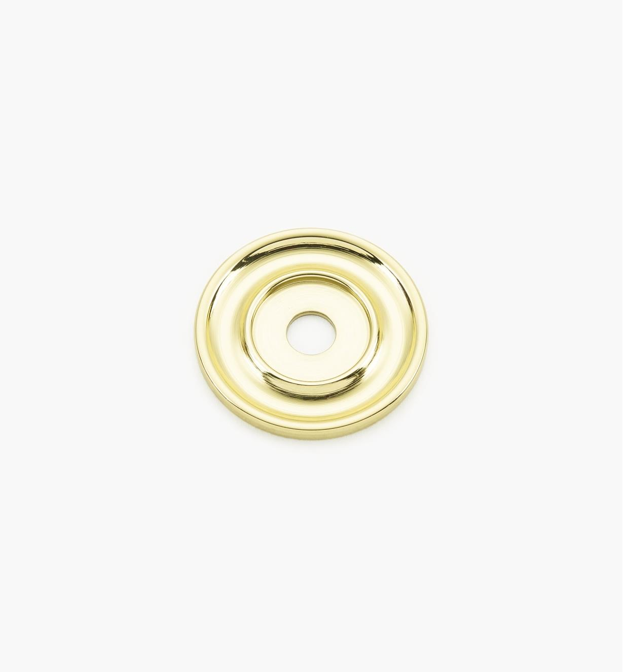 "02W3210 - Polished Brass Suite - 1 1/4"" Knob Escutcheons"