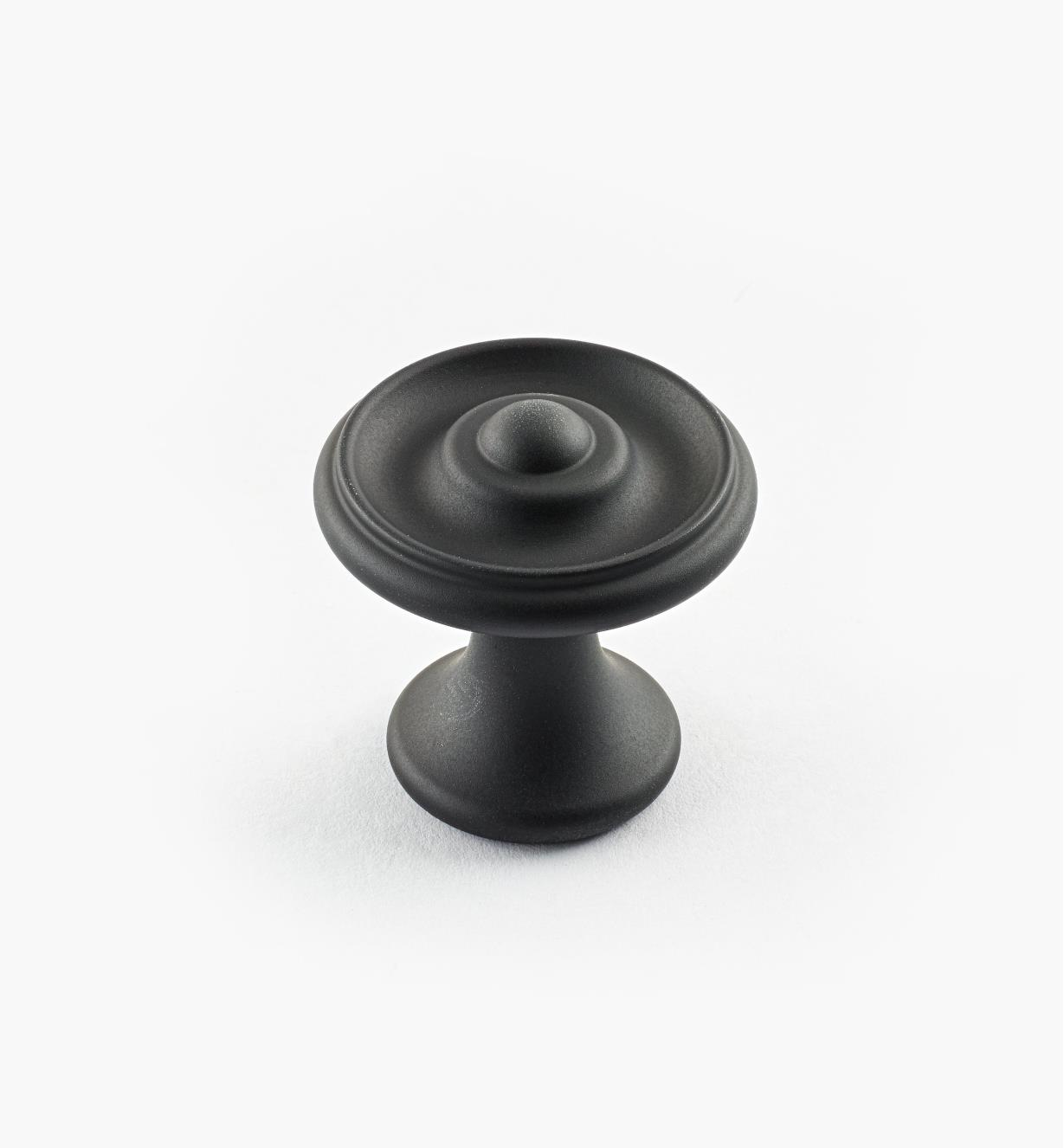 "02W3241 - Oil-Rubbed Bronze Suite - 1 1/8"" x 1 1/8"" Turned Brass Raised Knob"