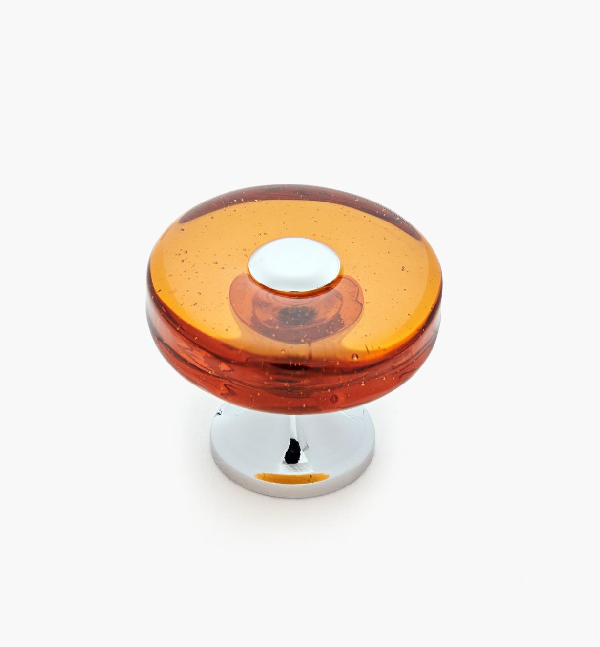01A3735 - Tinted Glass Disc Knob, Orange