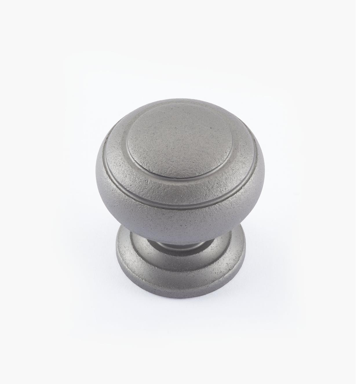 "02W3326 - Pewter Suite - 1 1/4"" x 1 1/4"" Turned Brass Ring Knob"