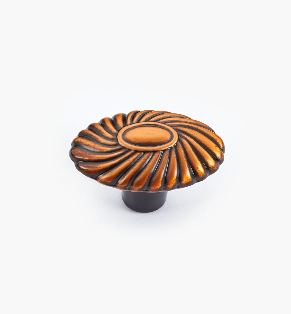 02W3445 - Orchid Brushed Antique Copper Knob