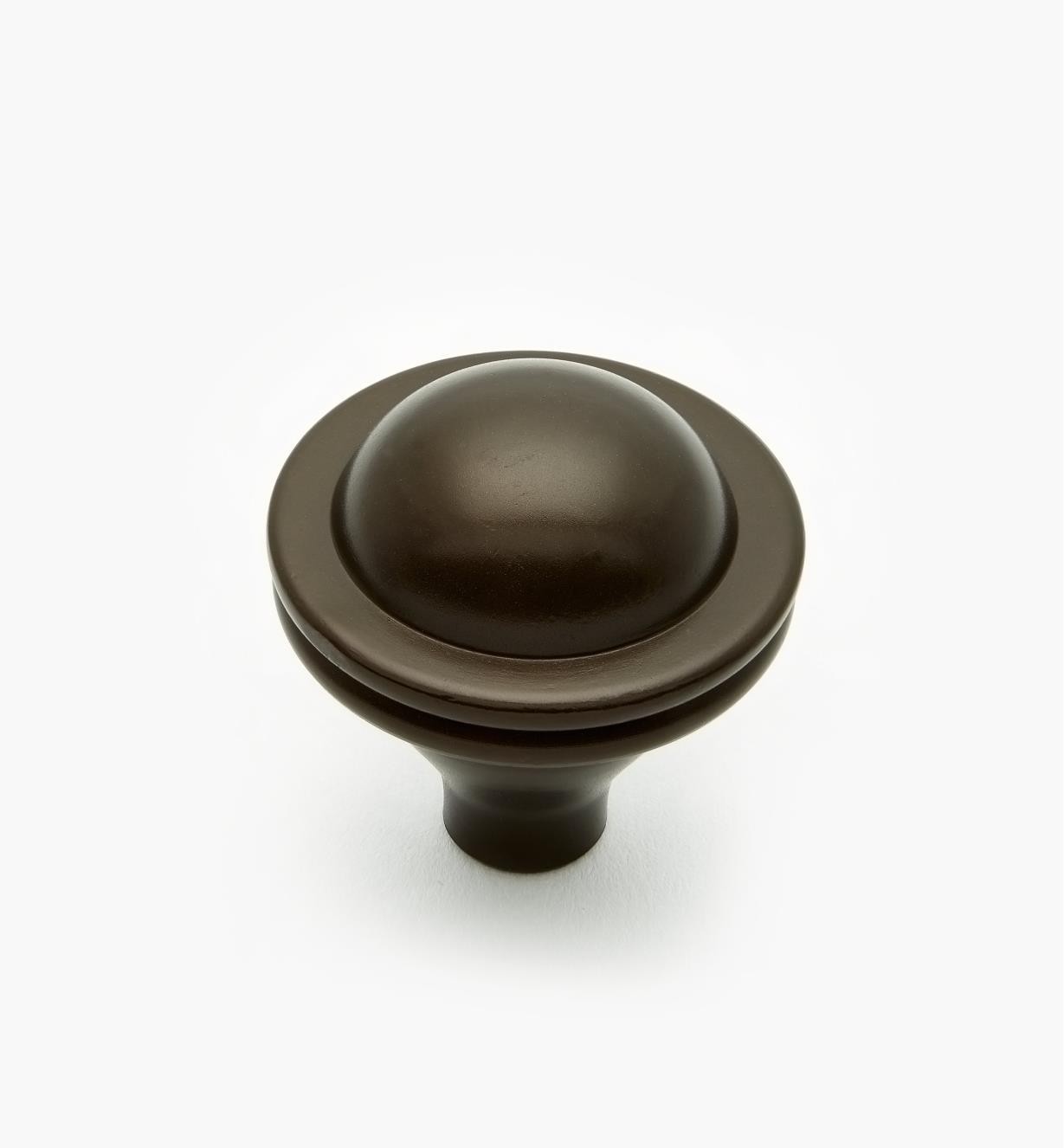 02W4017 - Bouton Saturne de 1 5/16 po x 1 3/8 po, finibronzehuilé
