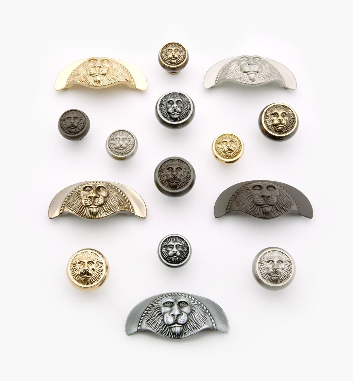 Poignées et boutons à tête de lion