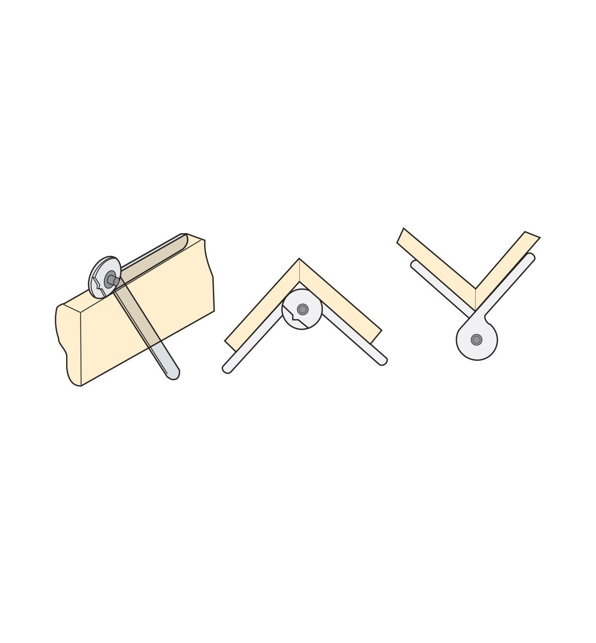 Illustrated examples of using the Combination Gauge to measure inside and outside angles and transfer an angle