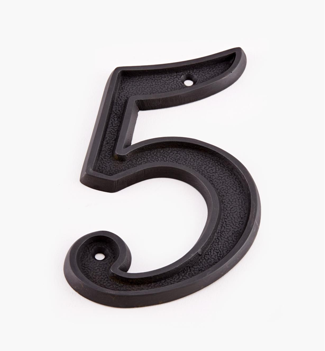 "00W0535 - 5"" Italic Oil-Rubbed Bronze Number - 5"
