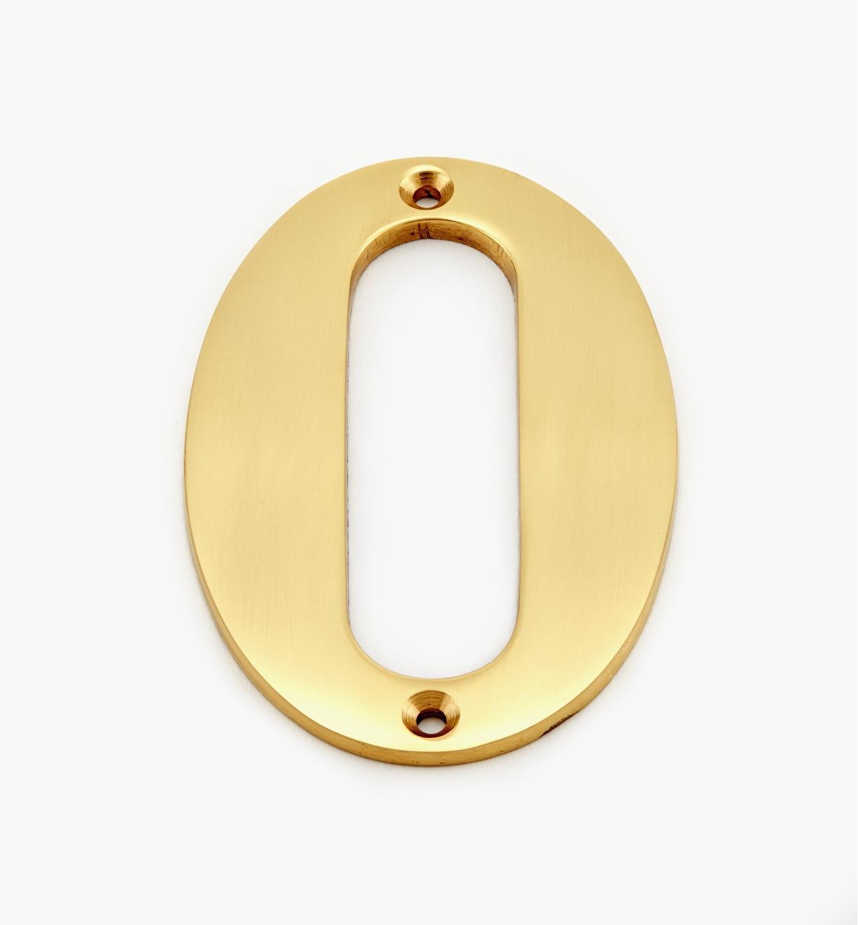 "00W0550 - 4"" Standard Polished Brass Number - 0"