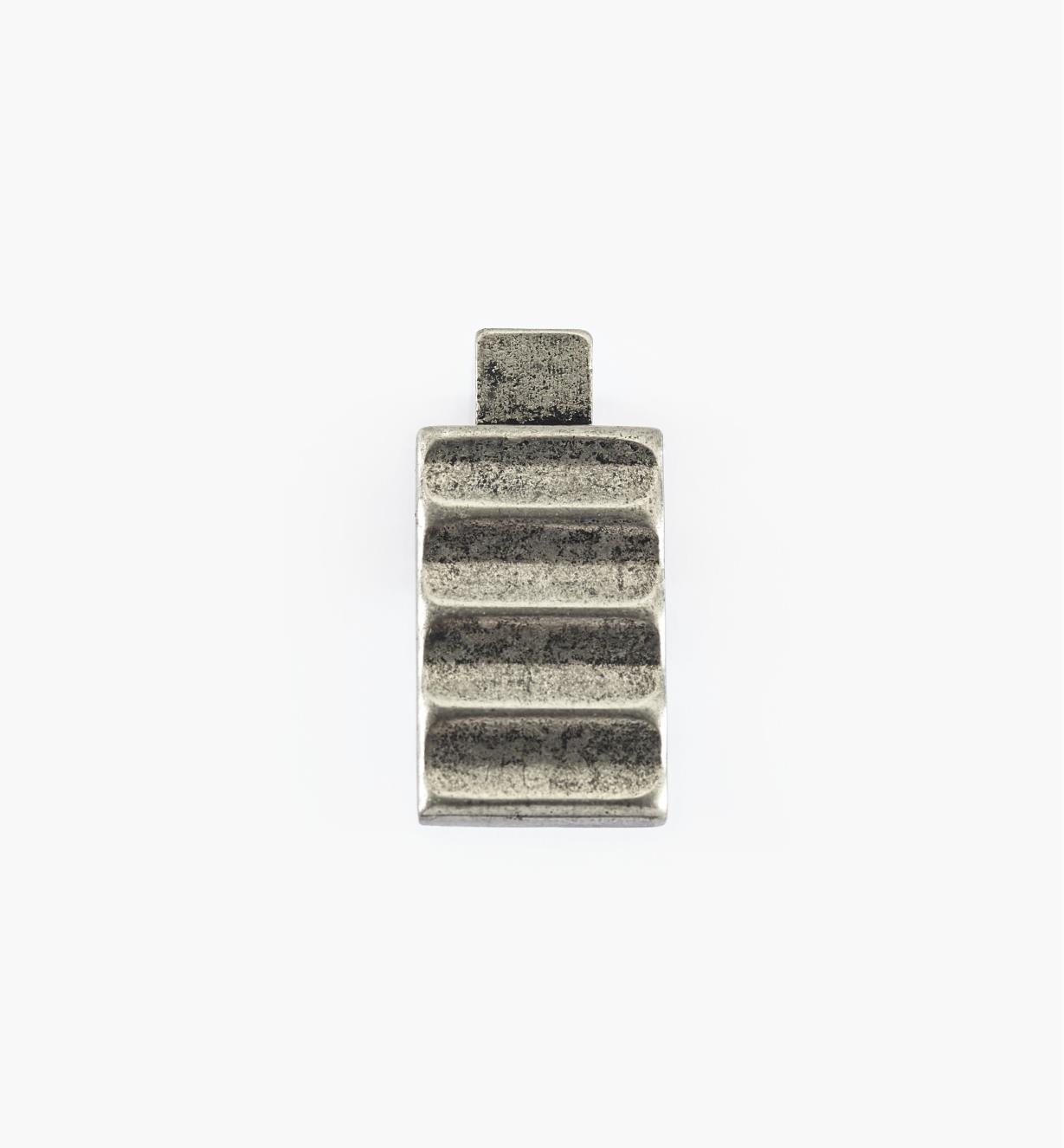 01G1871 - Bouton Passerelle rustique, fini argent antique, 33 mm x 16 mm