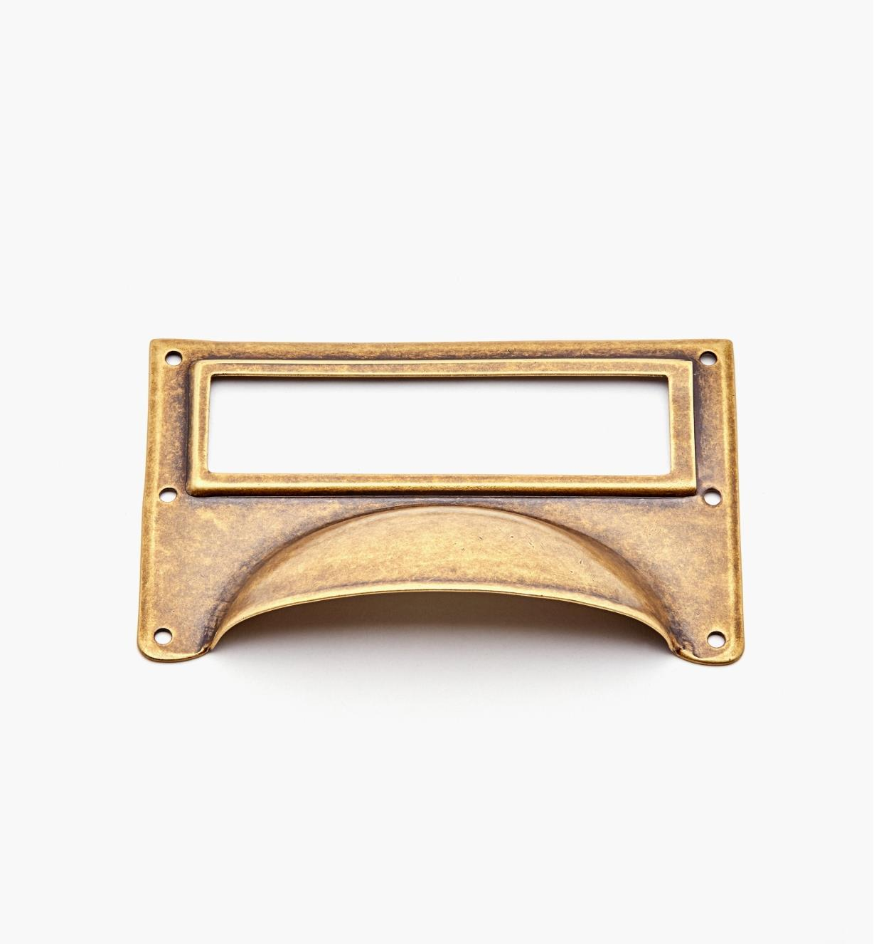 01A5734 - Antique Brass Card Frame Pull