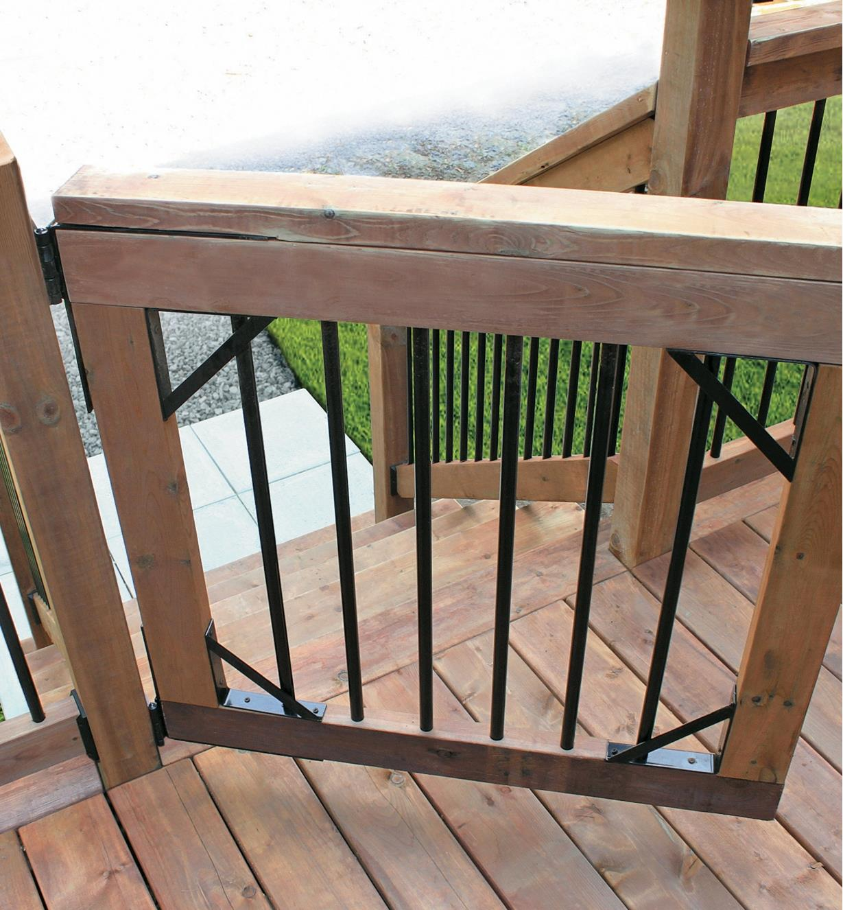 Deck gate made with Heavy-Duty Gate Bracket Kit