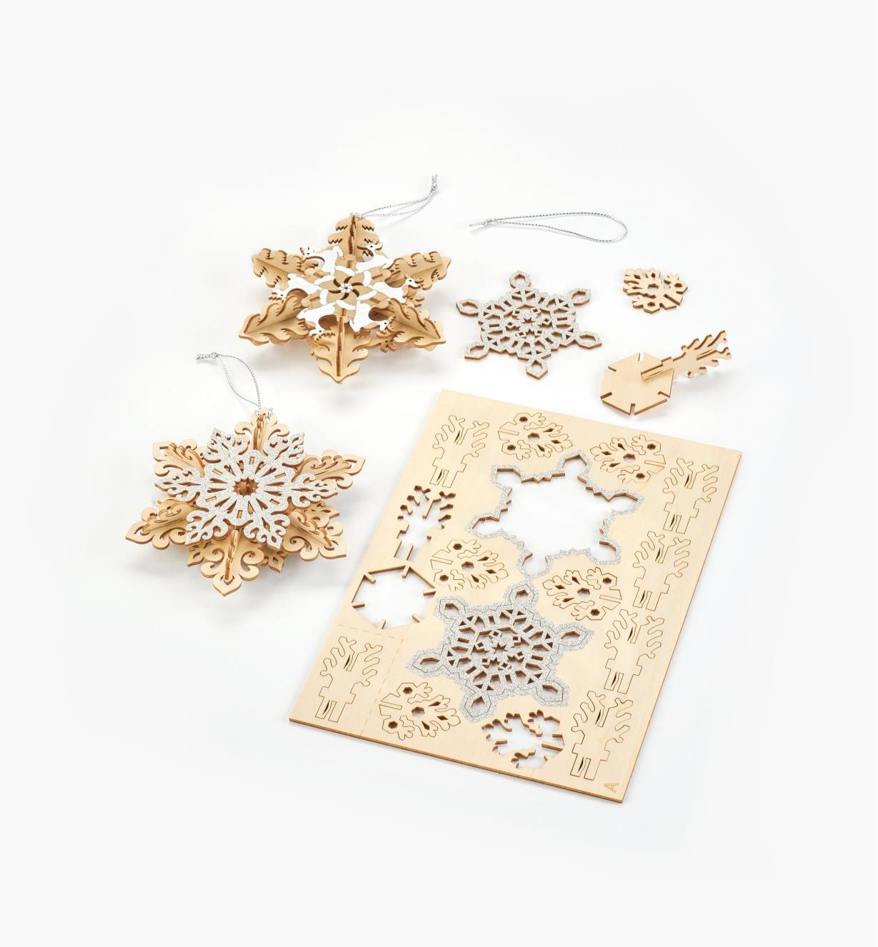 45K3994 - Wooden Snowflake Ornaments Kit