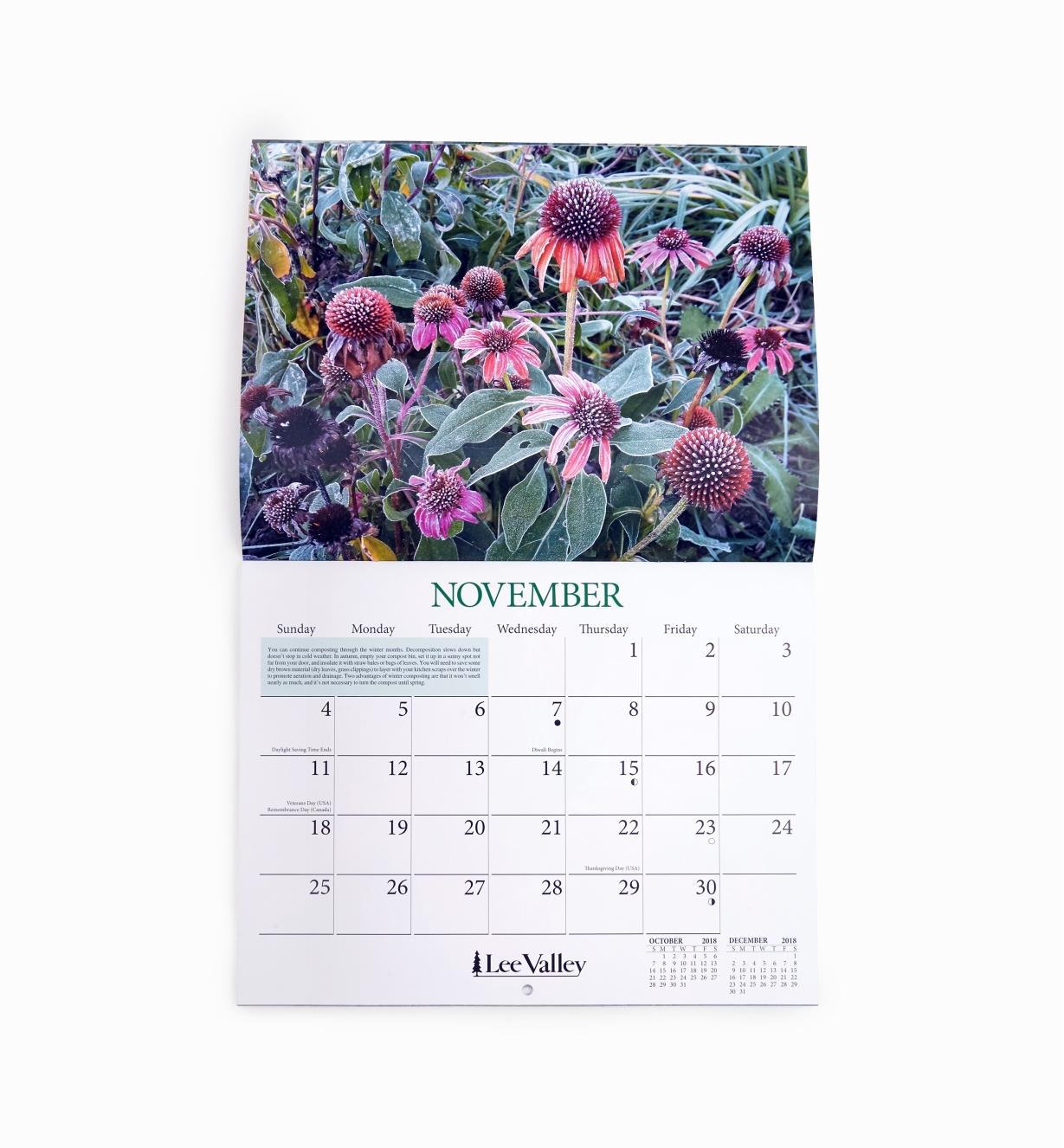 49L0797 - 2018/2019 Gardening Calendar