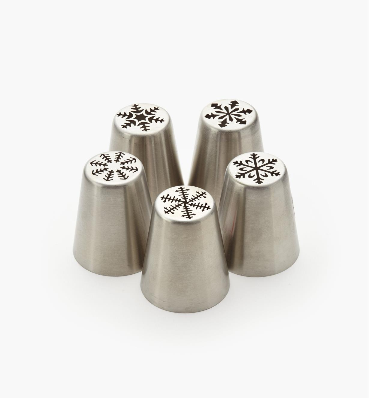 EV713 - Snowflake Piping Tips, set of 5