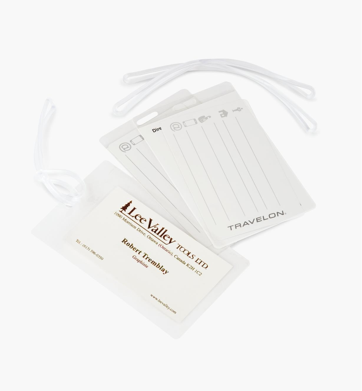 GB390 - Étiquettes d'identification autoplastifiantes, le lot de 3