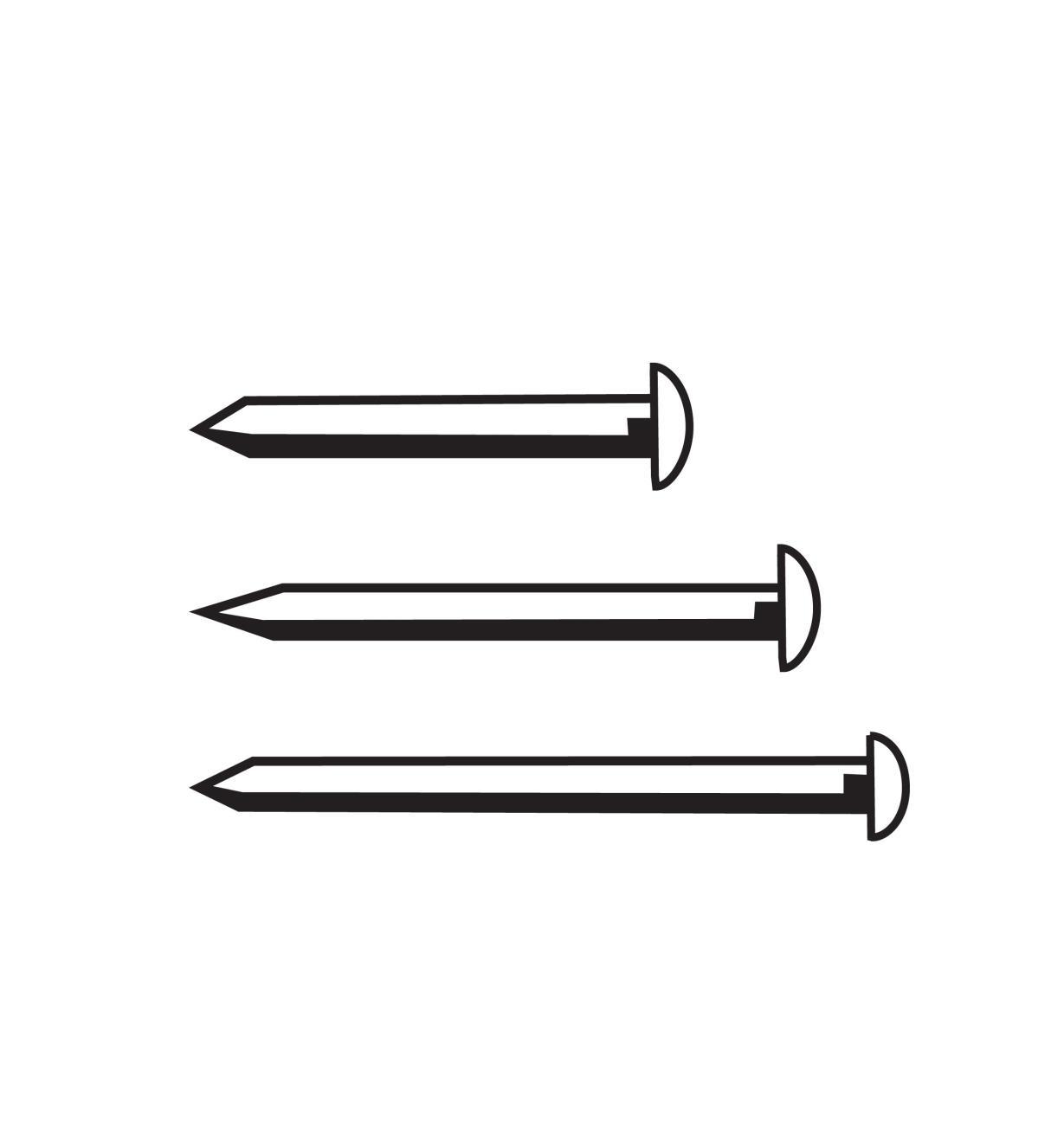 00D4001 - 9mm Esc Pins, RH, 10g