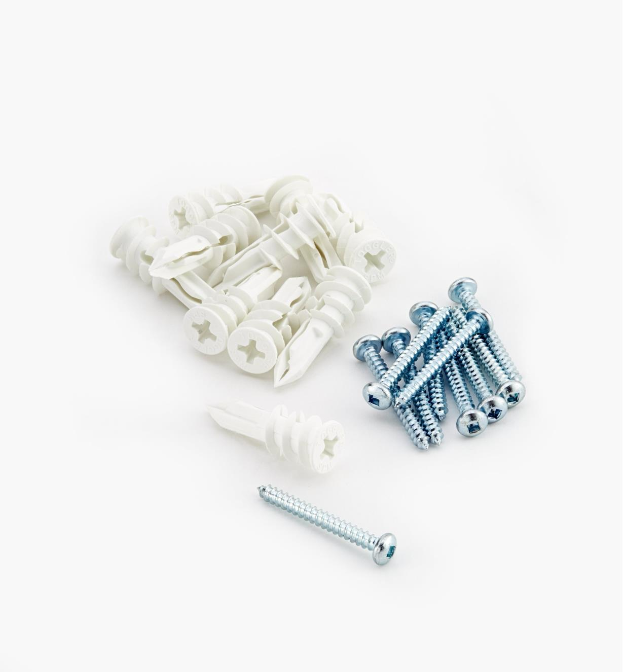 00F1775 - Toggler Drywall Anchors & Screws, pkg. of 10