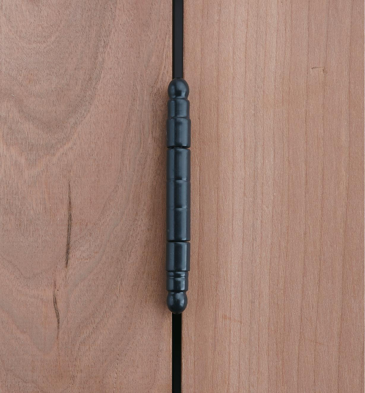 01H3063 - Charnières pour porte encastrée, meuble à cadre, embouts à vase, noir, lelotde8