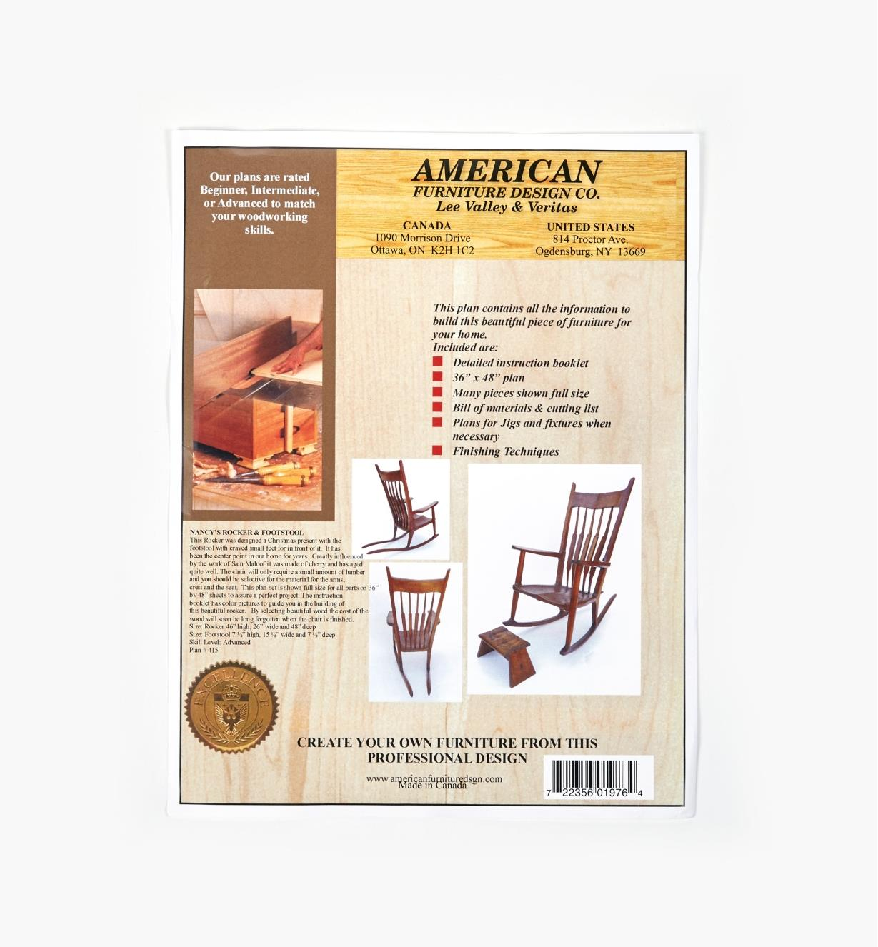01L5131 - Nancy's Rocker & Footstool Plan