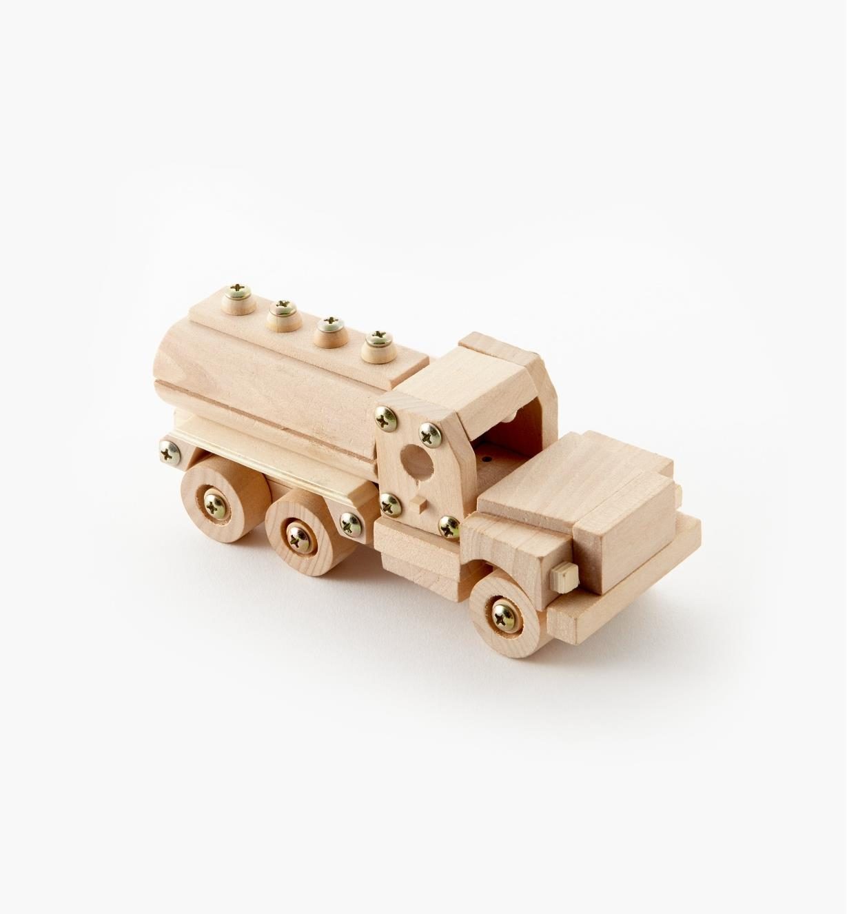 09A0535 - Tanker Truck Easy-To-Build Wooden Toy Kit
