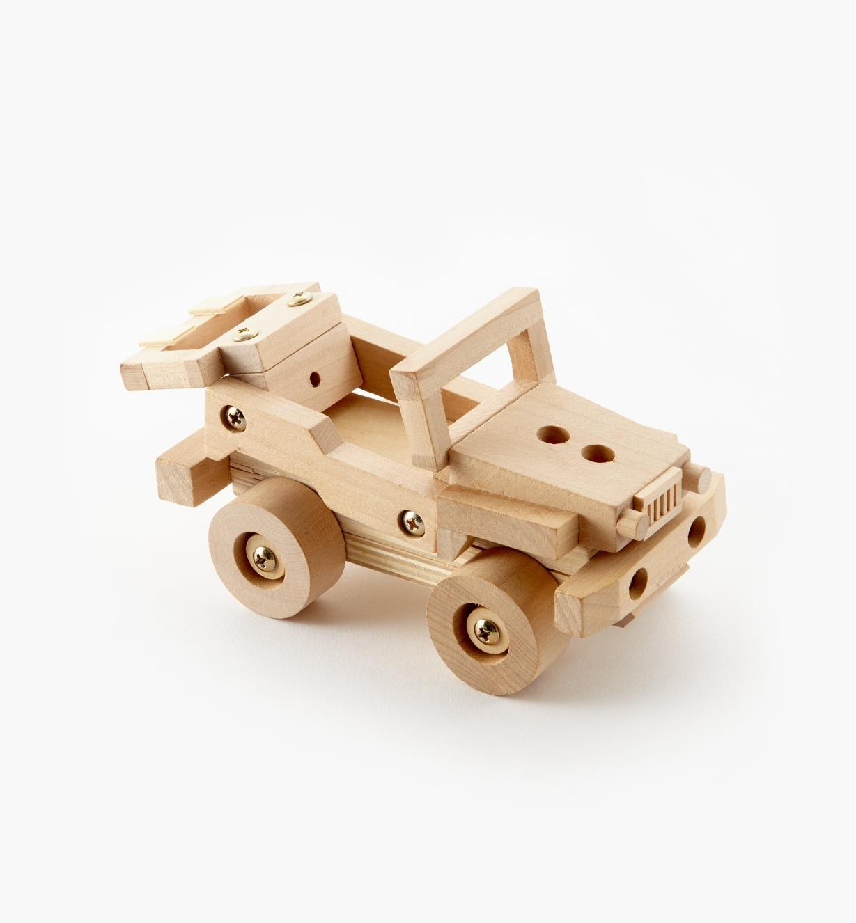 09A0538 - Off-Road Vehicle Easy-To-Build Wooden Toy Kit