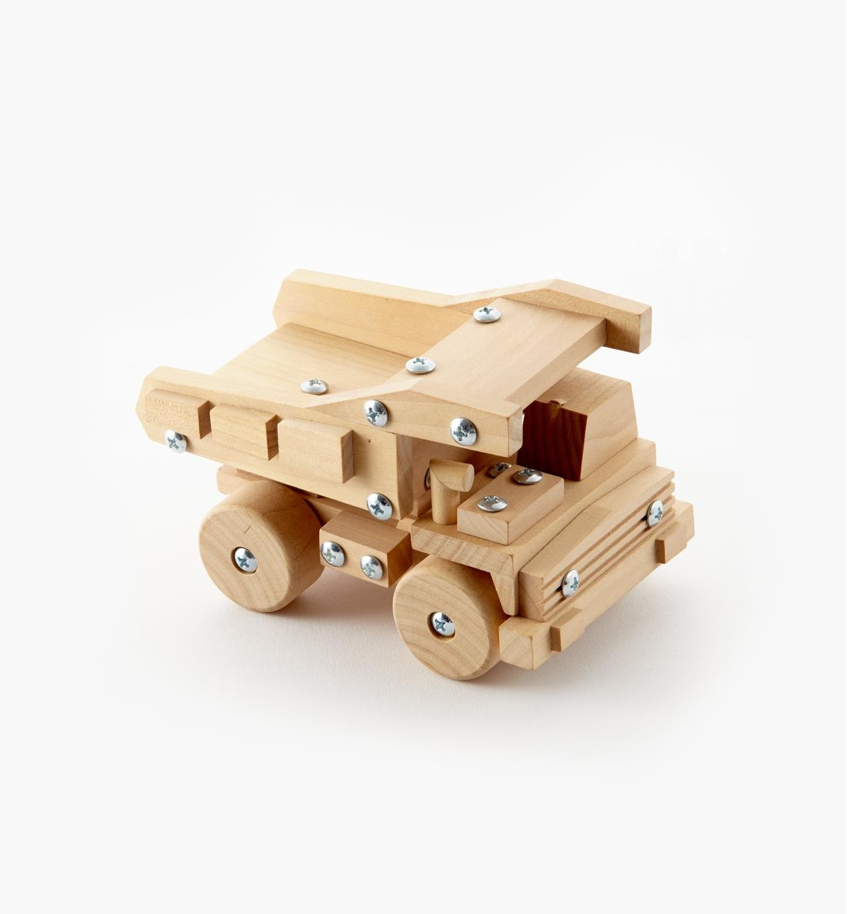 09A0557 - Dump Truck Easy-To-Build Wooden Toy Kit