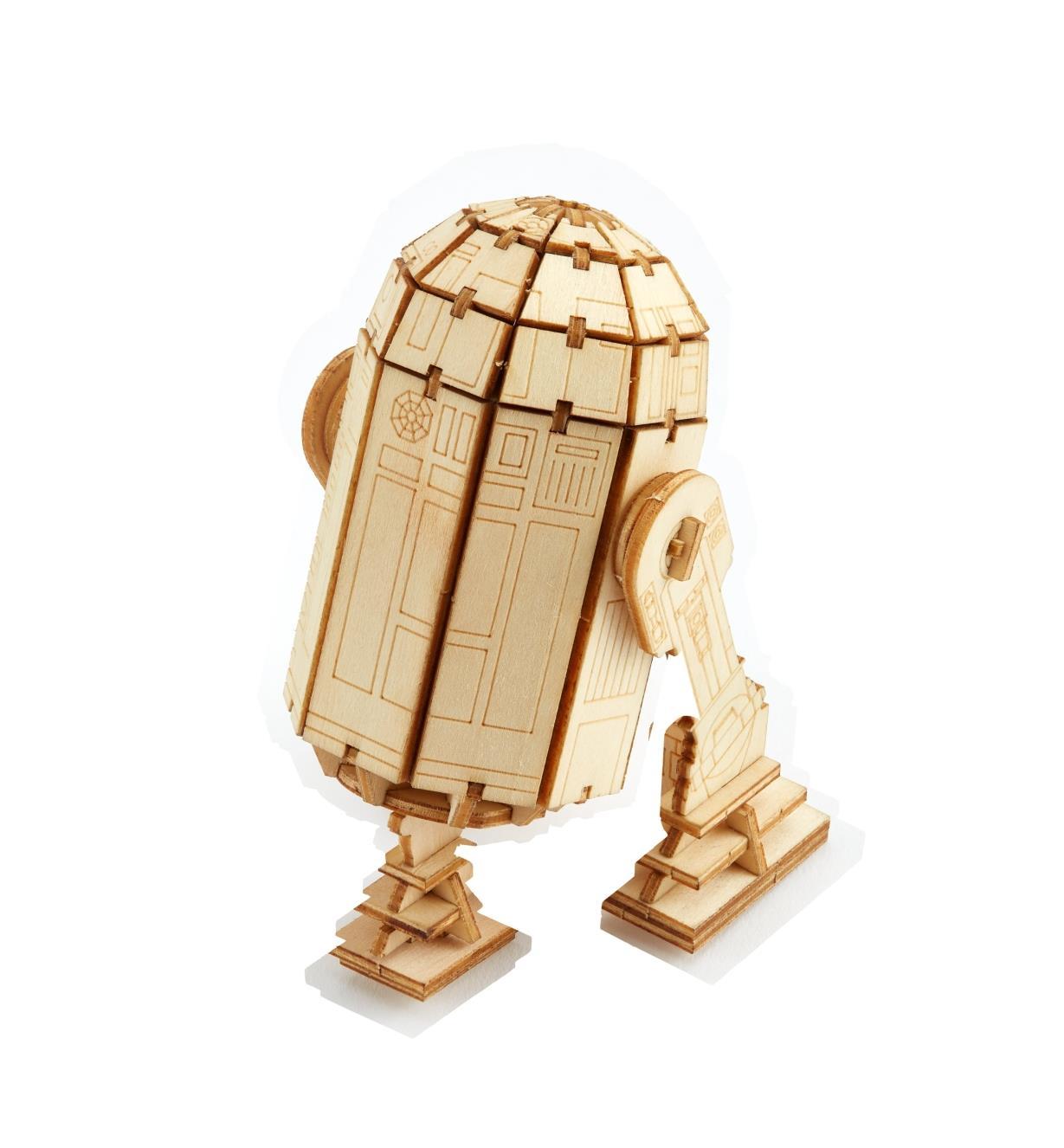 Assembled R2-D2 Wooden Model
