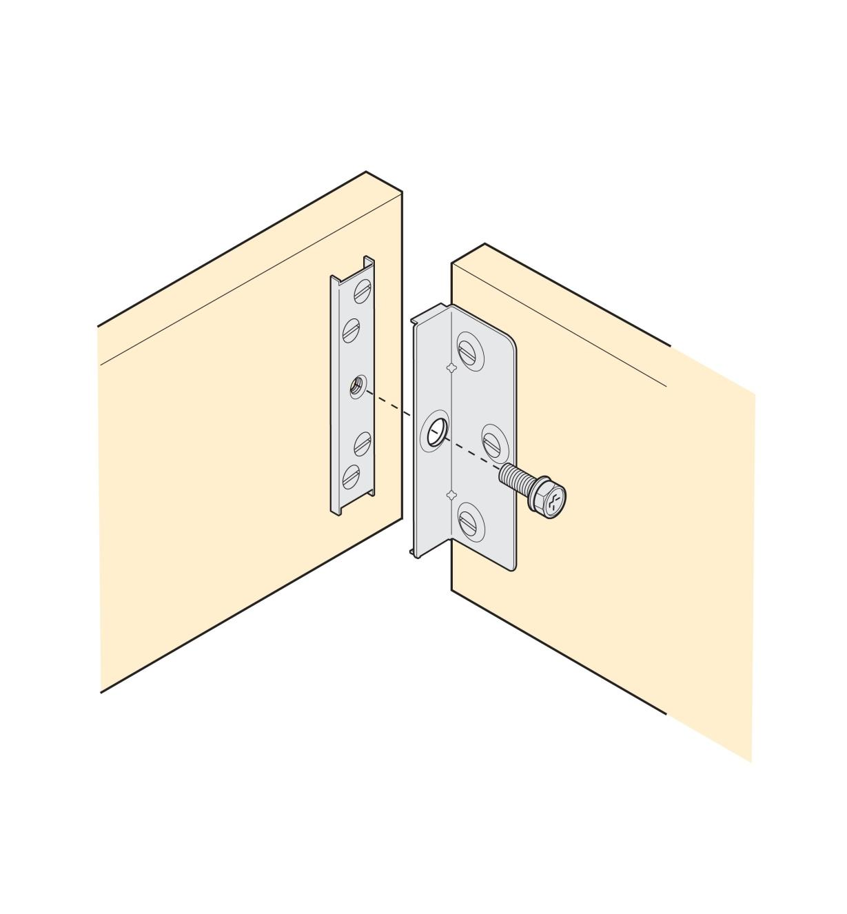 Illustration shows how to install Low-Profile Brackets