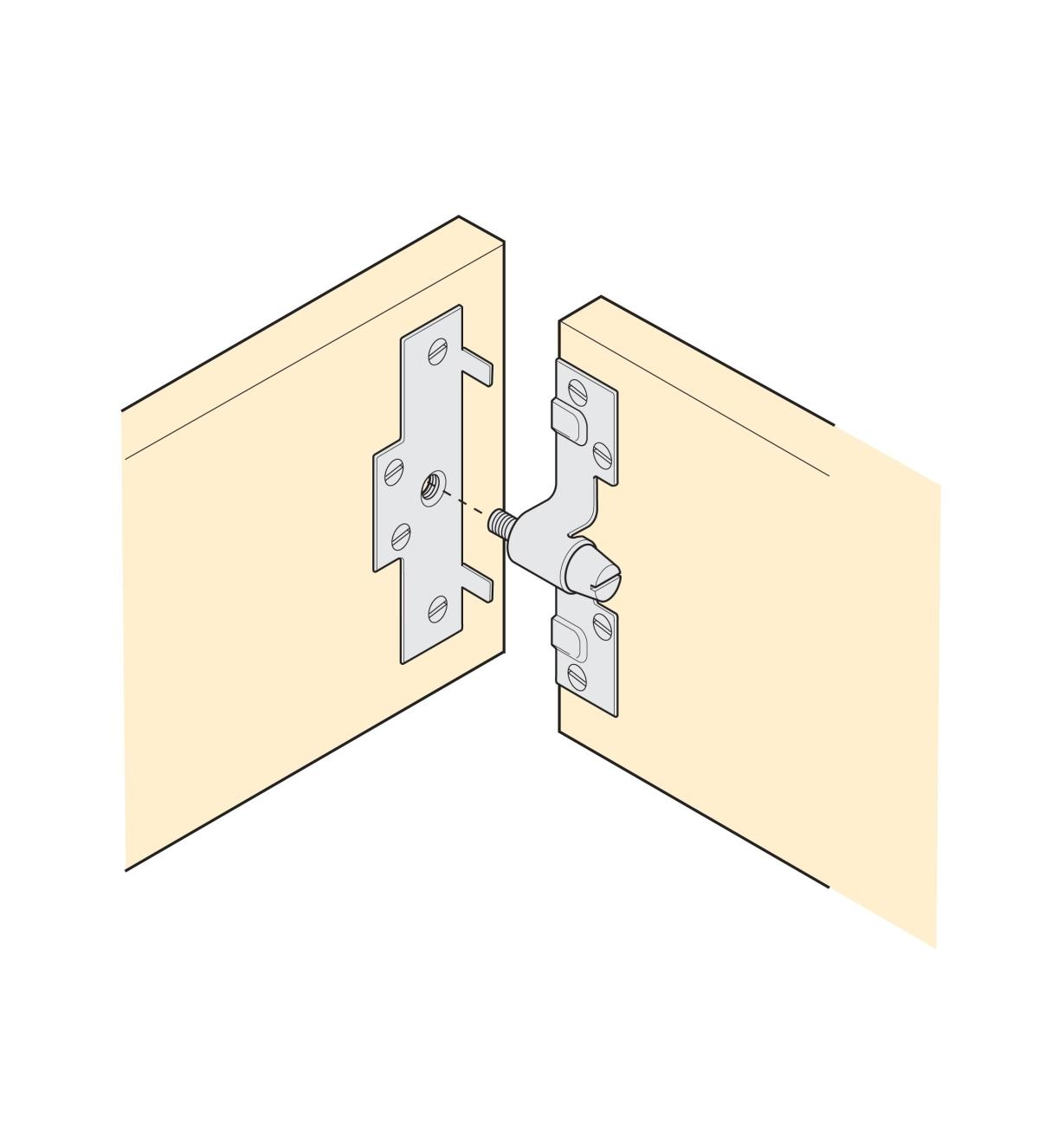 Illustration shows how to install Regular Brackets