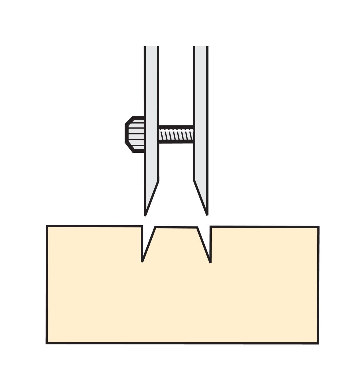 Couteau japonais double pour incrustation