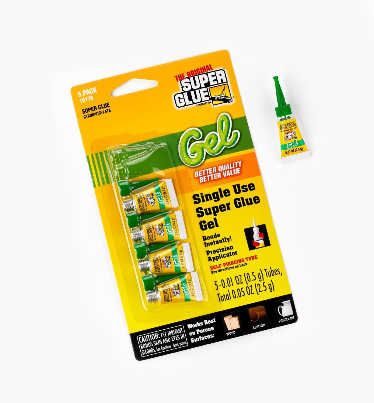 56Z2971 - Pkg(5) .01oz Gel CA Glue